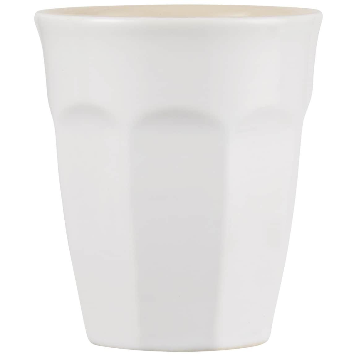 IB LAURSEN Latte hrneček Mynte Pure White 250 ml, bílá barva, keramika
