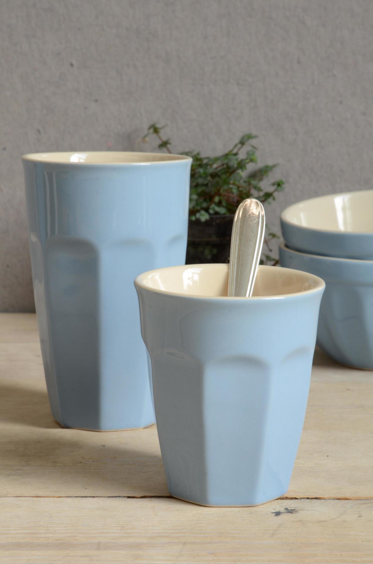 IB LAURSEN Latte hrneček Mynte nordic sky 250 ml, modrá barva, keramika