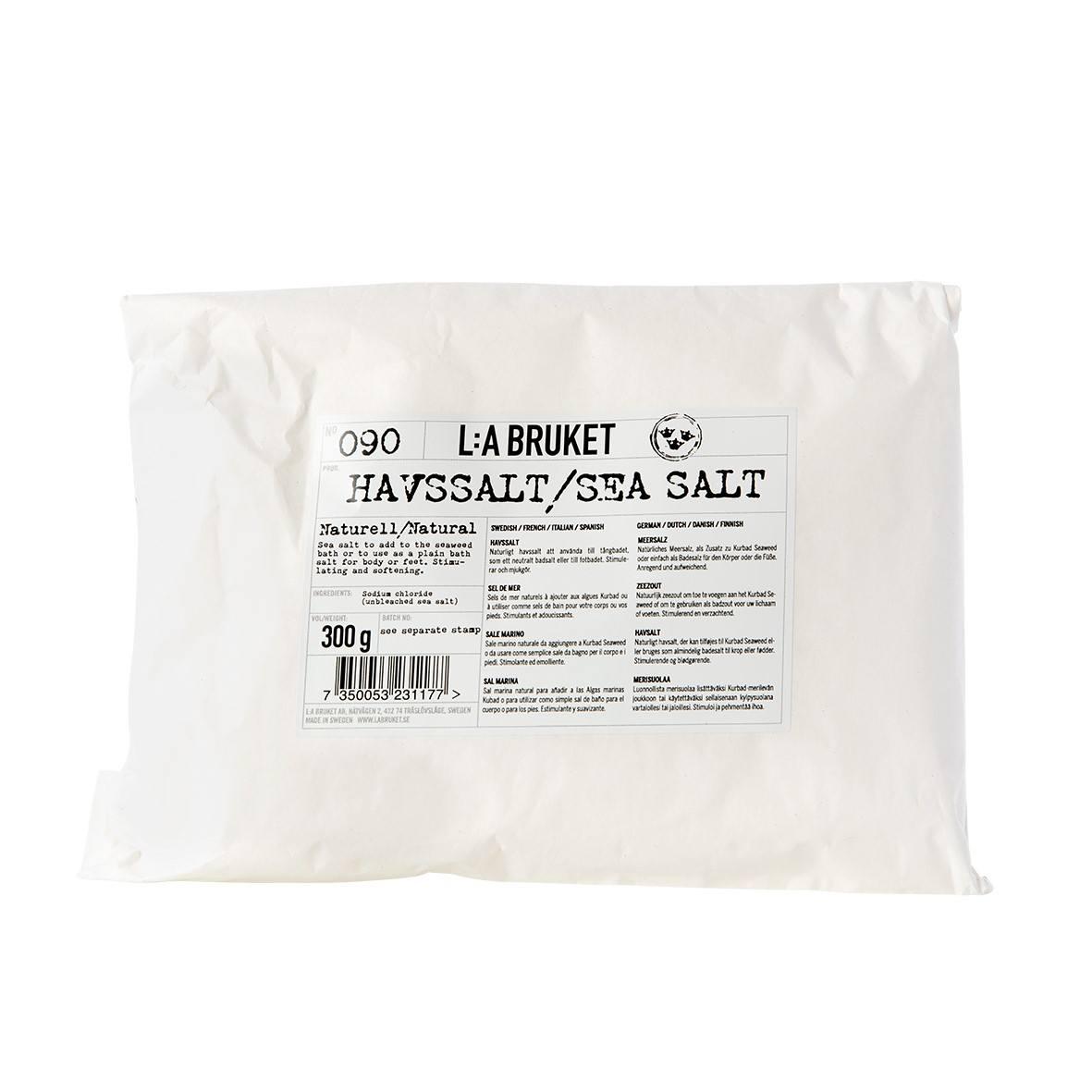 L:A BRUKET Mořská koupelová sůl 300 gr, bílá barva, papír