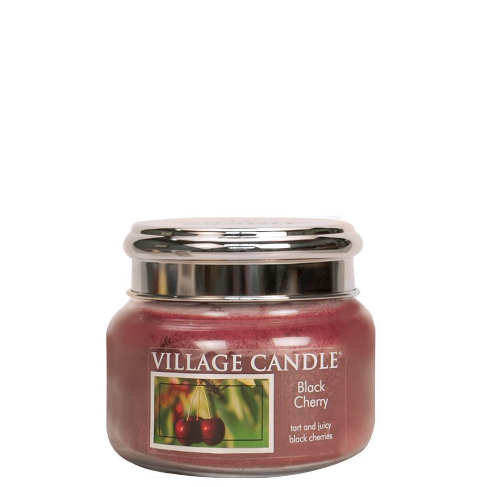 VILLAGE CANDLE Svíčka Village Candle - Black Cherry 262g, červená barva, sklo