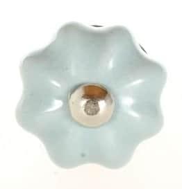 La Finesse Porcelánová úchytka Tiny Grey Flower