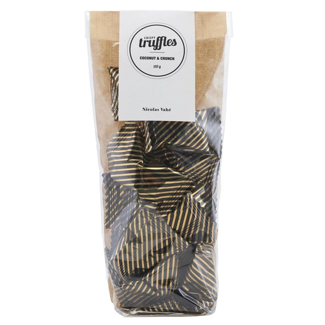 Nicolas Vahé Čokoládové lanýžky s kokosem 110 g, hnědá barva