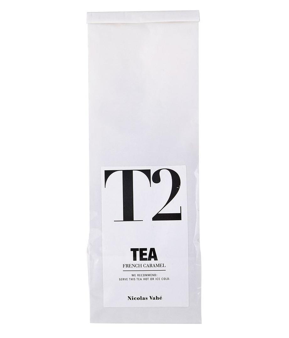 Nicolas Vahé Černý čaj s francouzským karamelem 140 g, bílá barva, papír