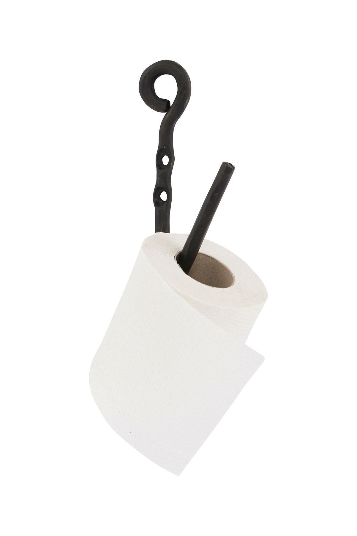 House Doctor Držák na toaletní papír Black, černá barva, kov