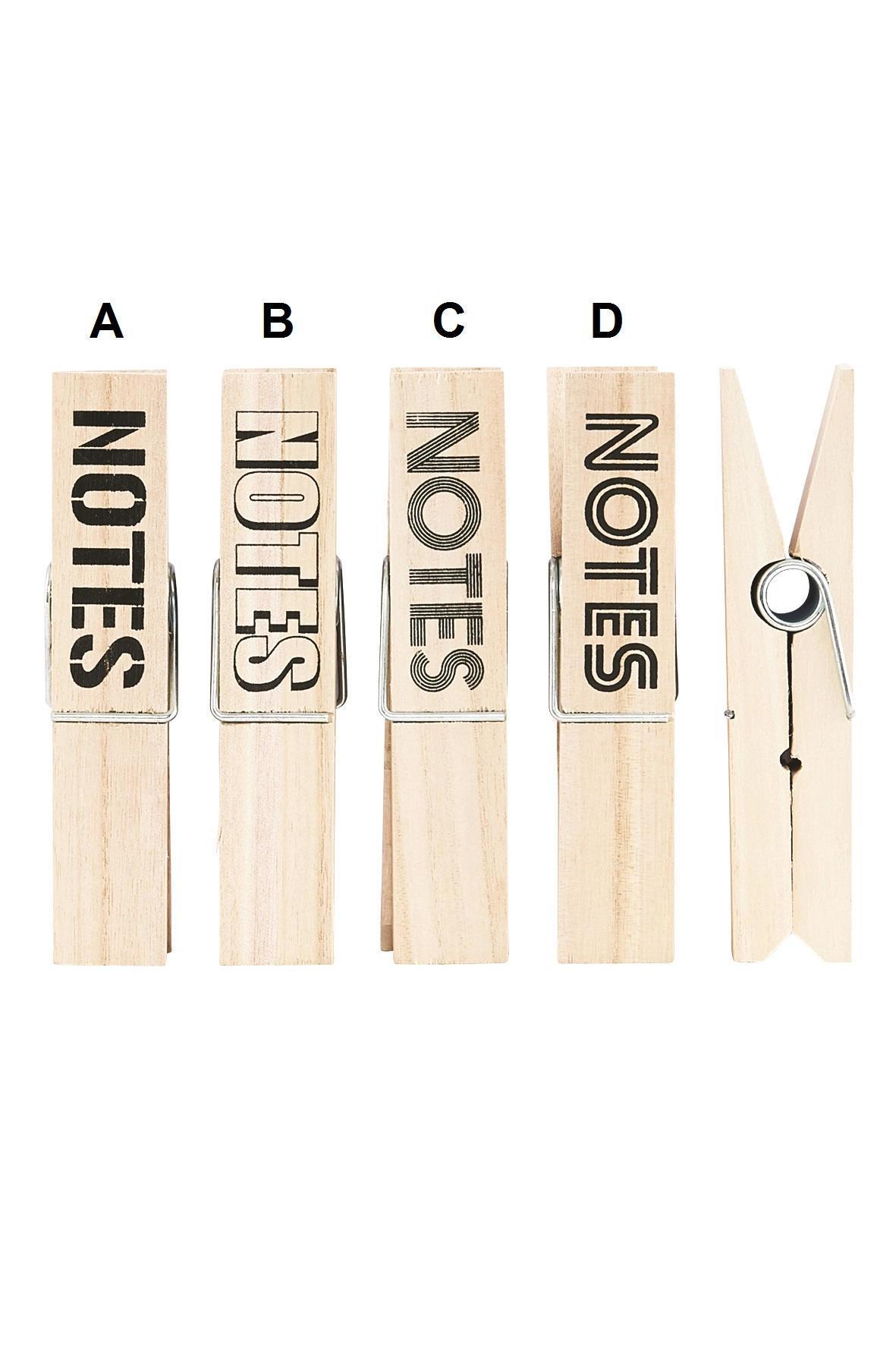 MONOGRAPH Dekorativní kolíček maxi Notes Typ A, béžová barva, dřevo