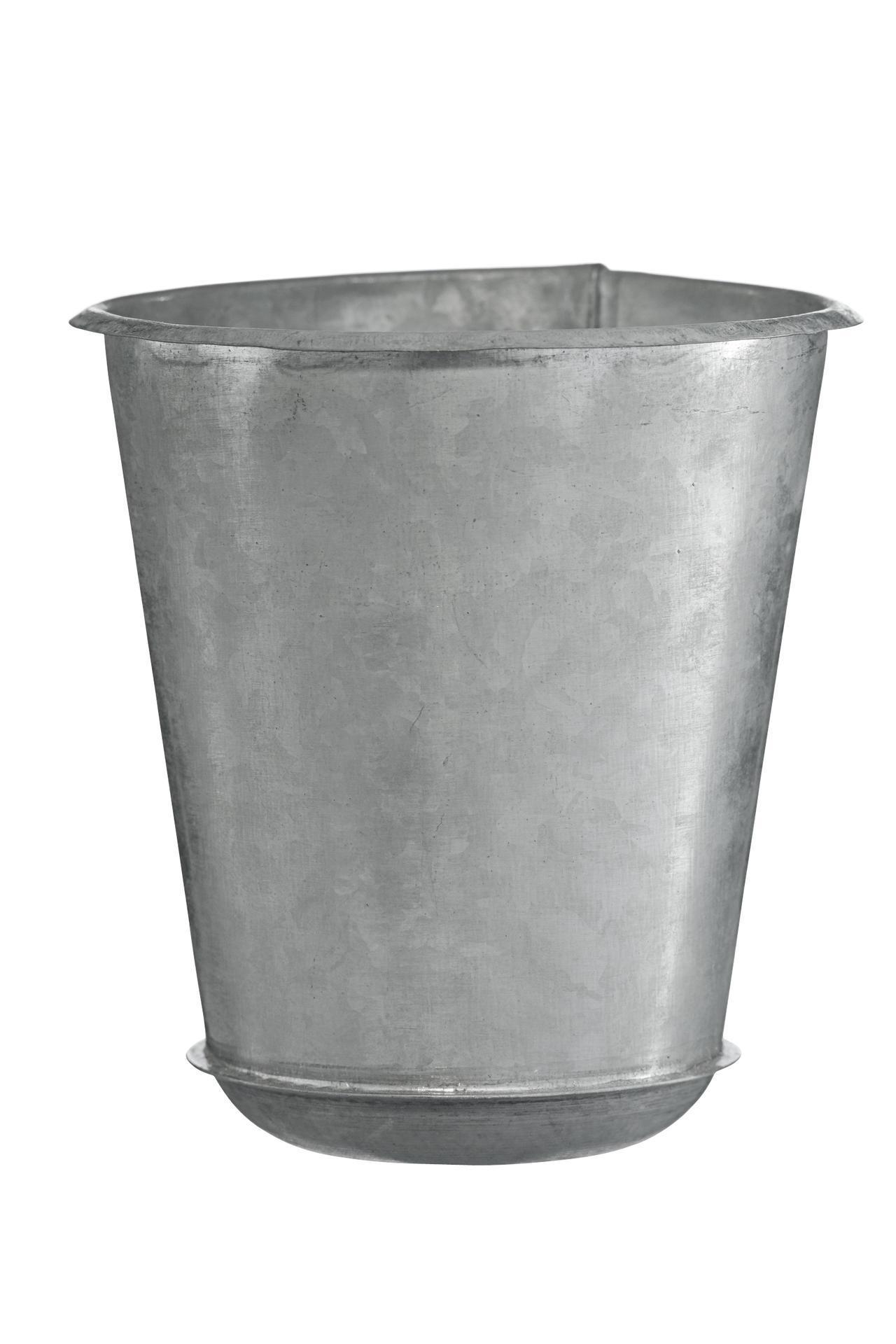 MADAM STOLTZ Zinkový obal 12 cm, šedá barva, zinek
