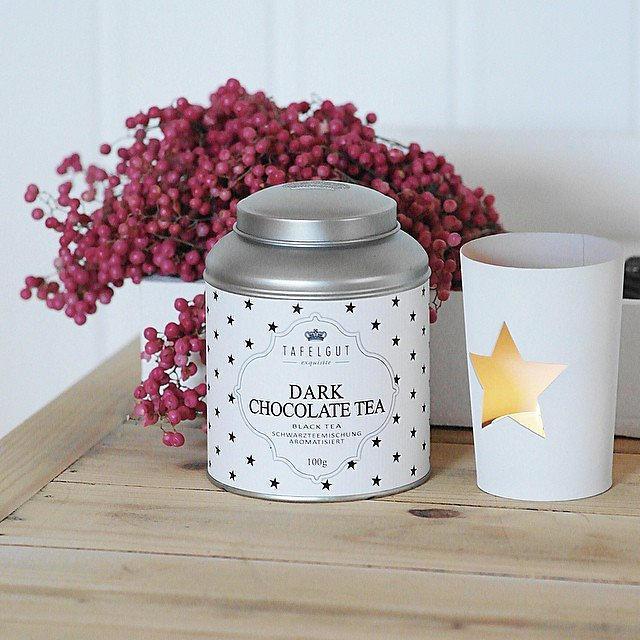 TAFELGUT Černý čaj s čokoládovou příchutí - 100 gr, bílá barva, kov