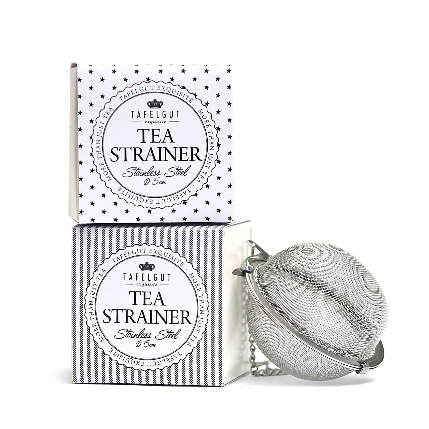 TAFELGUT Sítko na sypaný čaj Black - 5 cm Hvězdičky, černá barva, stříbrná barva, kov