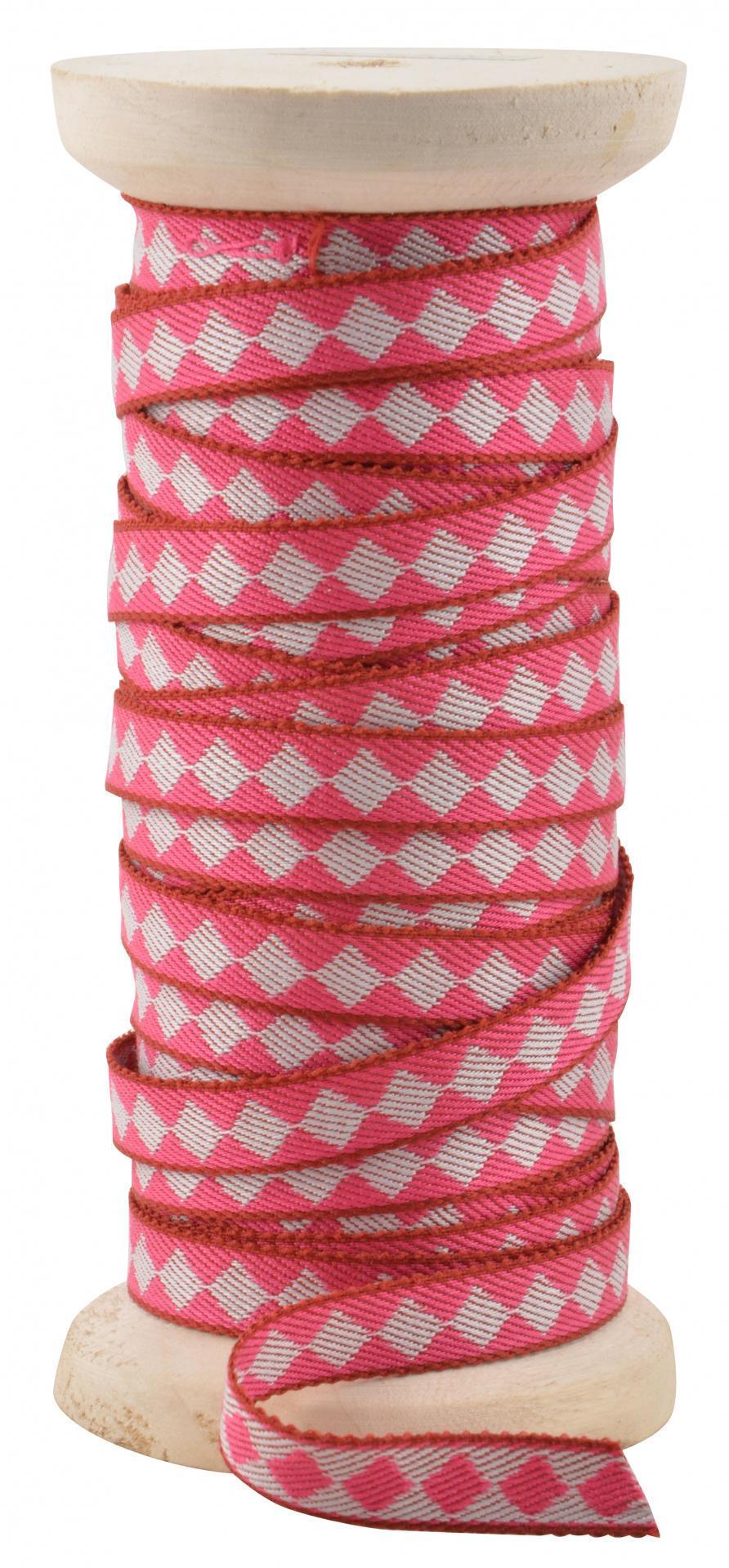 IB LAURSEN Dekorativní stuha Harlequin pink