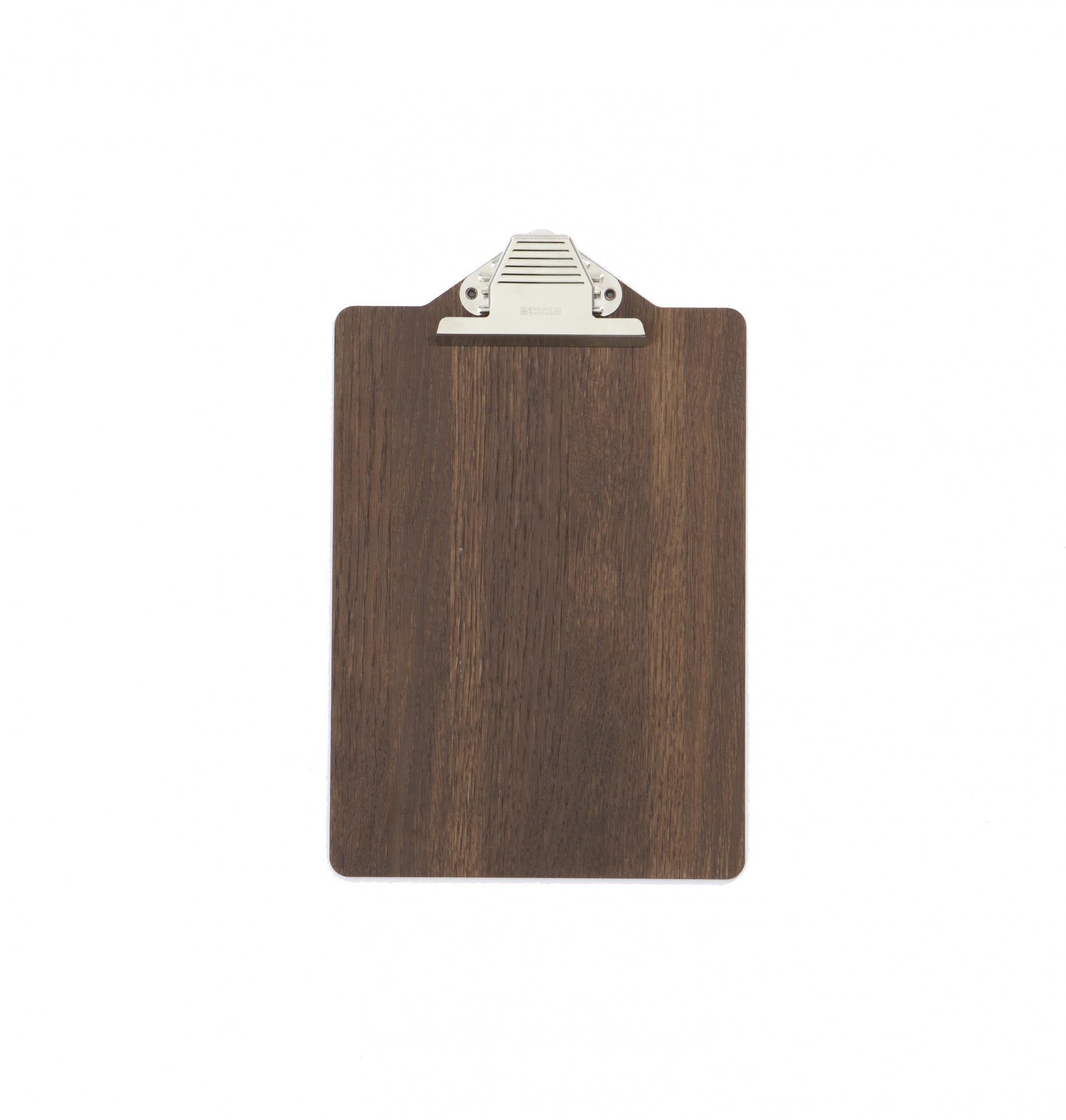 ferm LIVING Psací podložka se skřipcem Wood, hnědá barva, dřevo, kov
