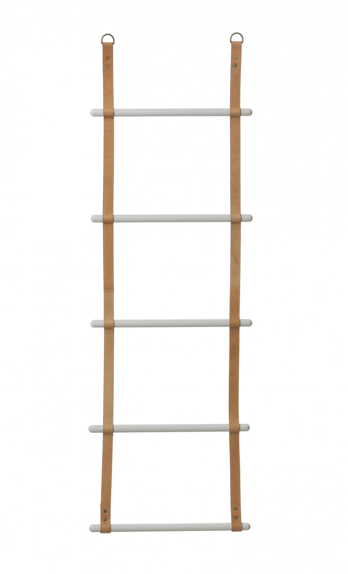 ferm LIVING Závěsný věšák - žebřík Leather Ladder
