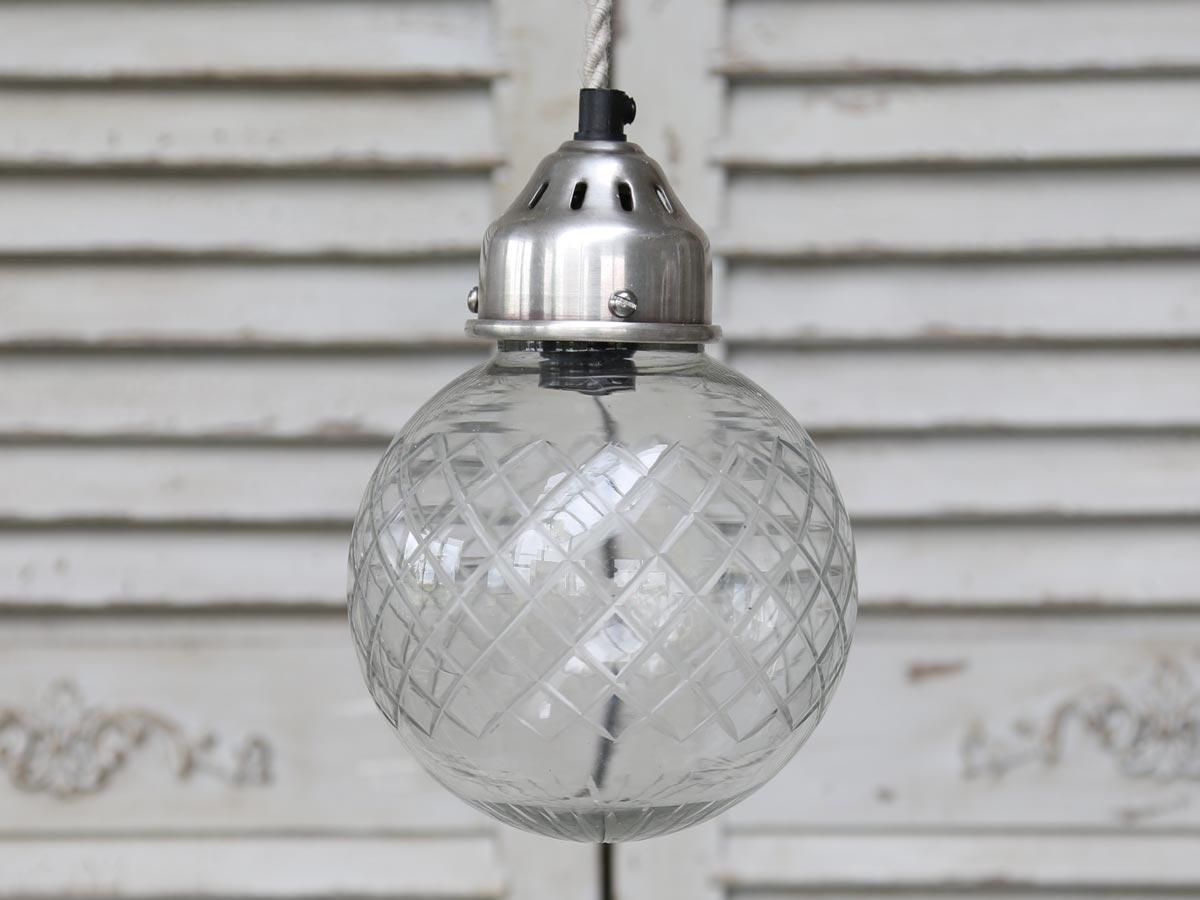 Chic Antique Stropní lampa Ball glass, čirá barva, sklo