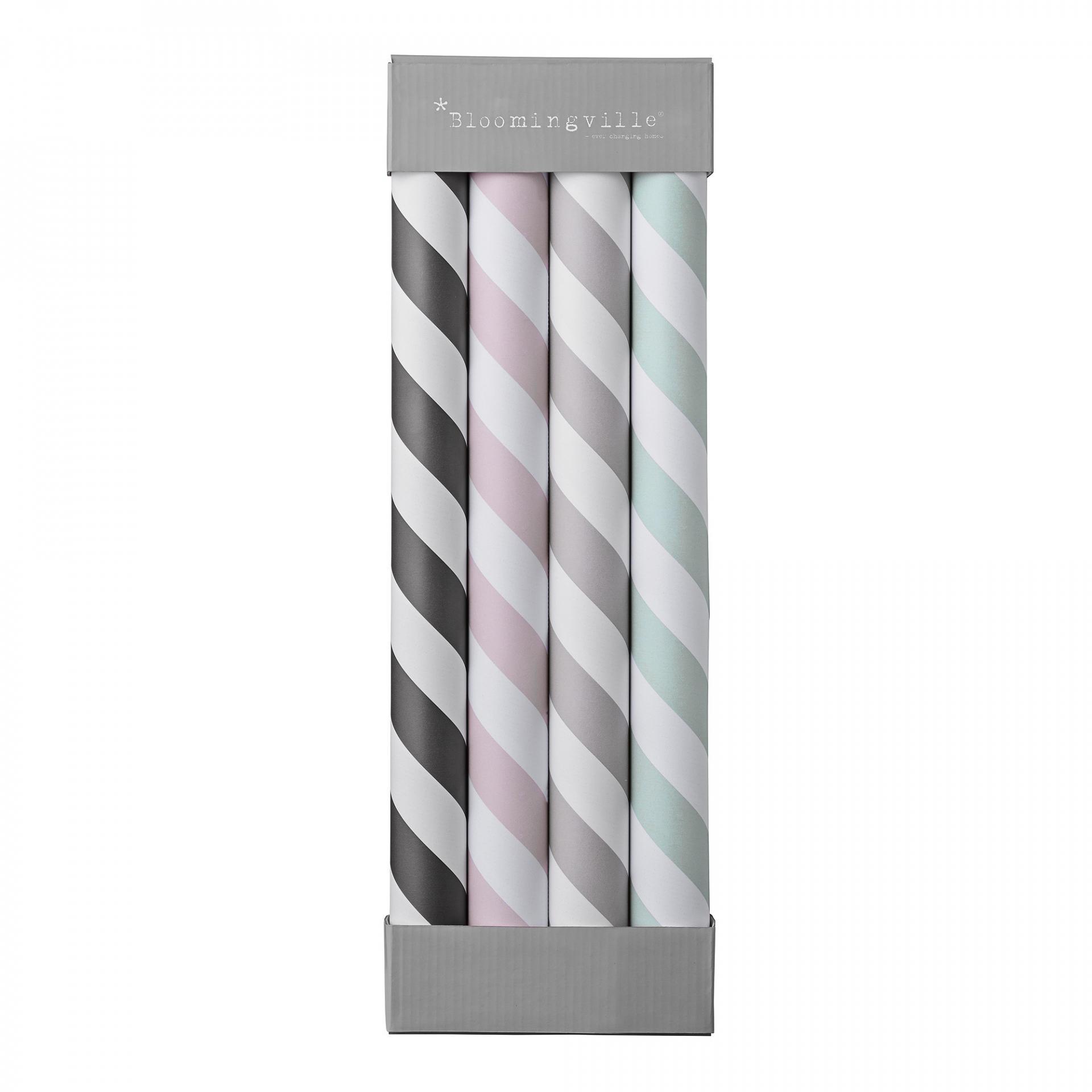 Bloomingville Balicí papír White Stripes - set 4 ks