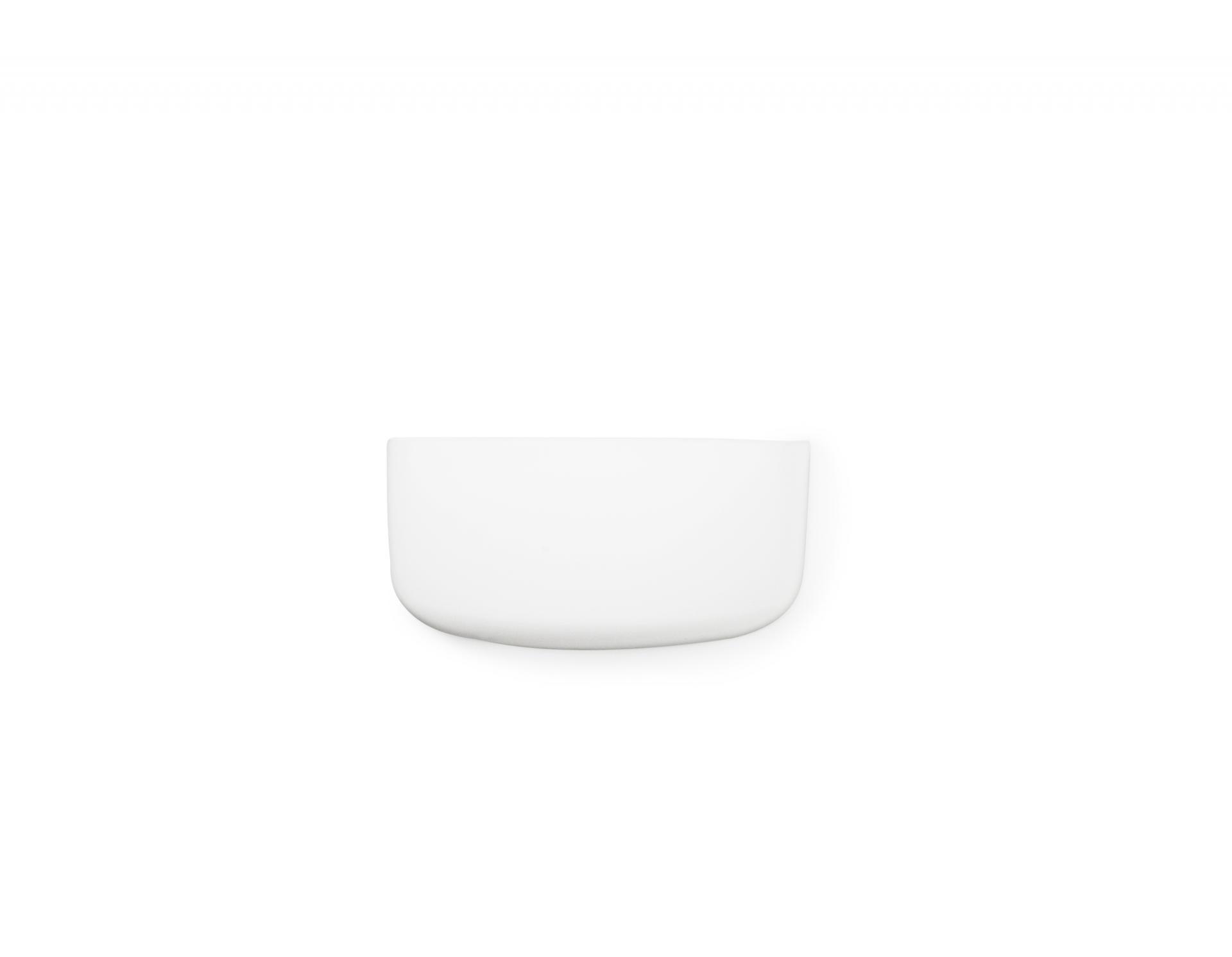 Normann Copenhagen Nástěnný organizér White Pocket 1, bílá barva, plast