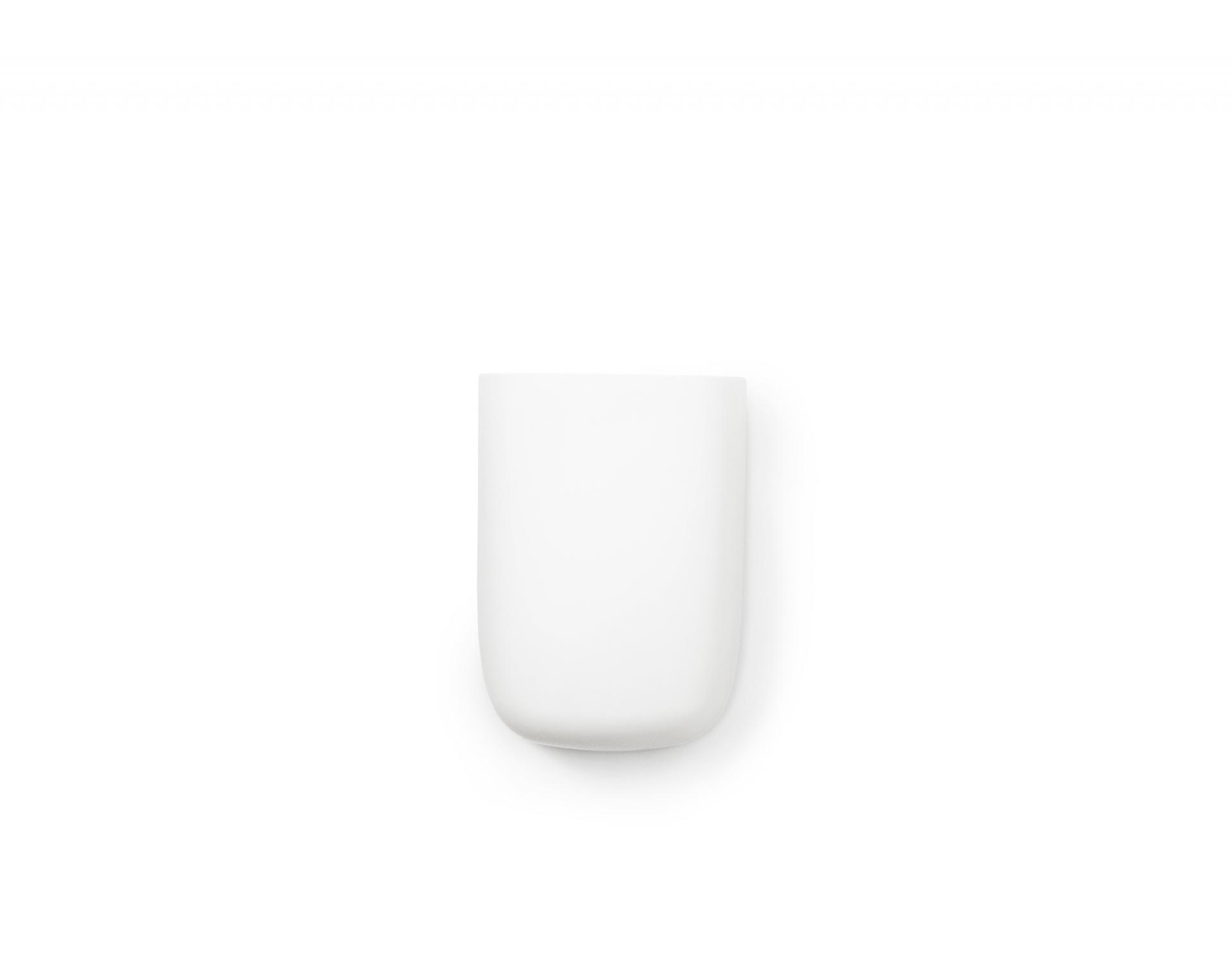 Normann Copenhagen Nástěnný organizér White Pocket 3, bílá barva, plast