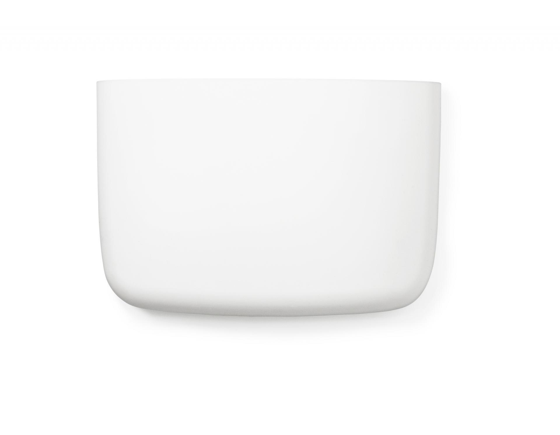 normann COPENHAGEN Nástěnný organizér White Pocket 4, bílá barva, plast