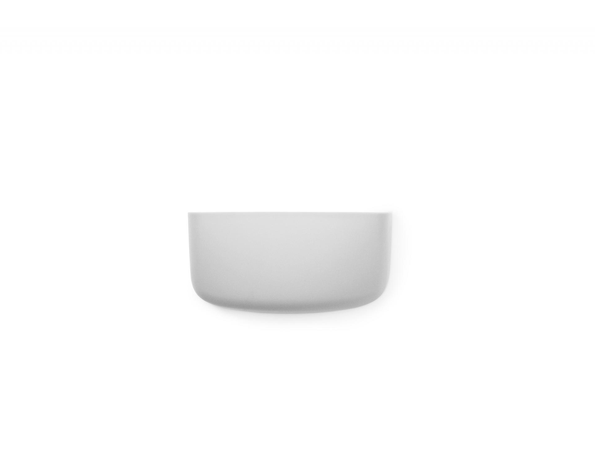 normann COPENHAGEN Nástěnný organizér Light Grey Pocket 1, šedá barva, plast