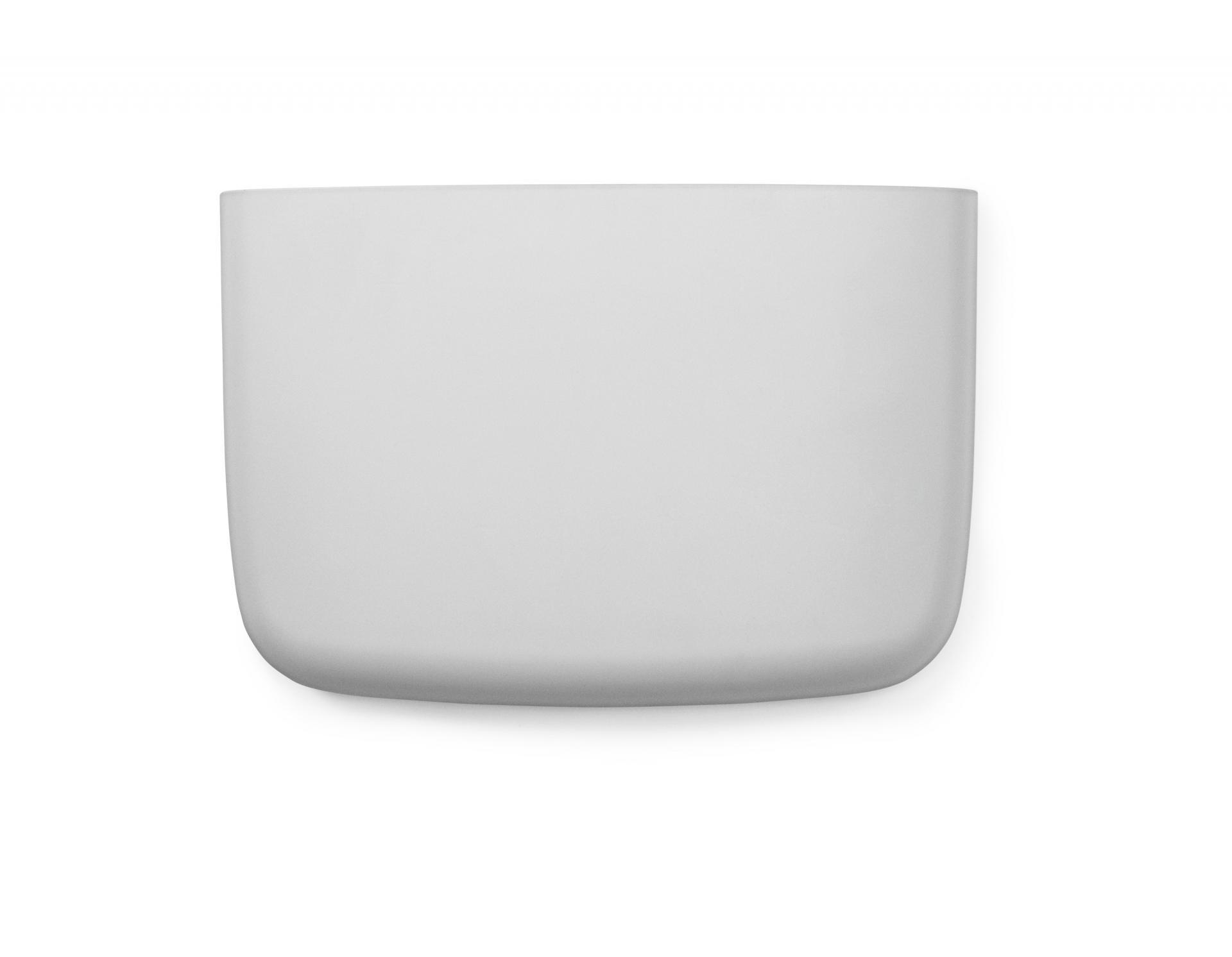normann COPENHAGEN Nástěnný organizér Light Grey Pocket 4, šedá barva, plast