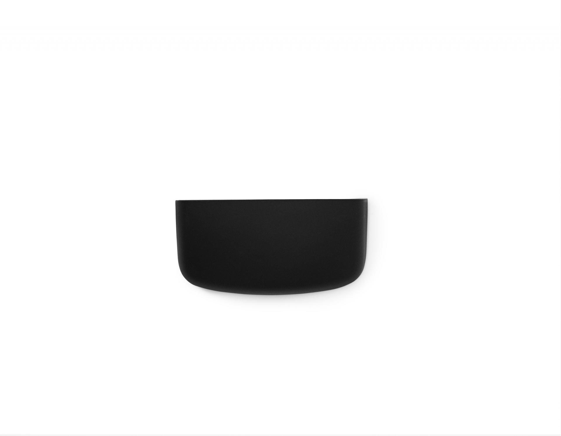 normann COPENHAGEN Nástěnný organizér Black Pocket 1, černá barva, plast