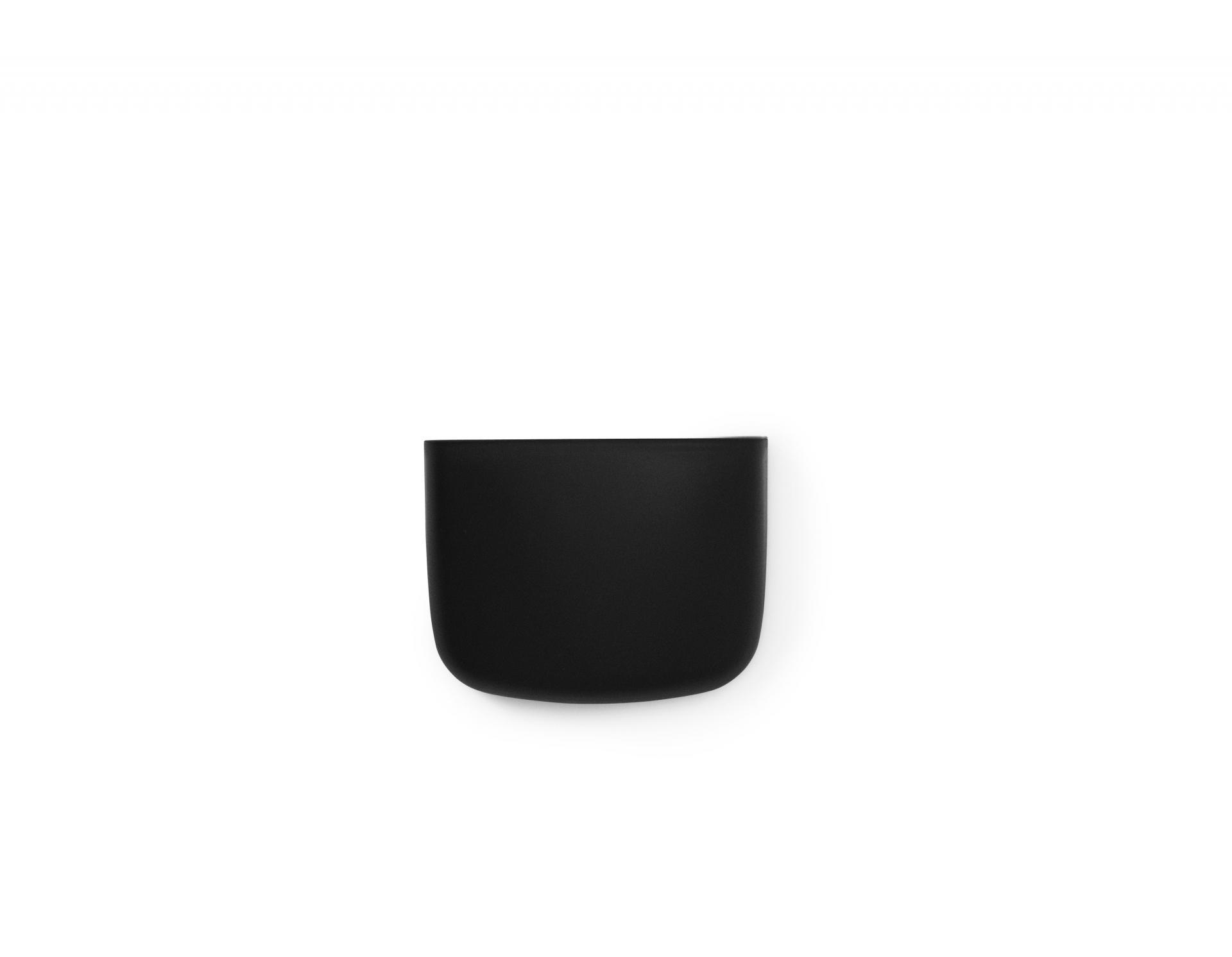 normann COPENHAGEN Nástěnný organizér Black Pocket 2, černá barva, plast