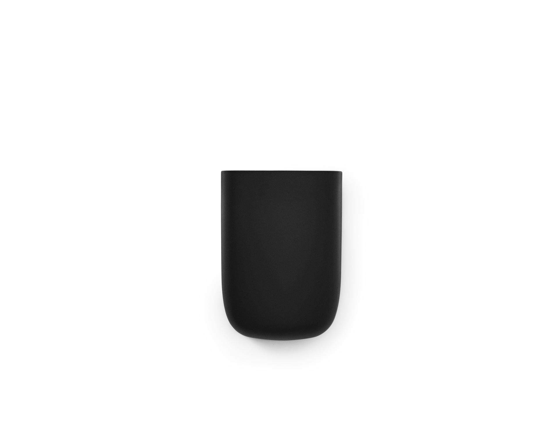 normann COPENHAGEN Nástěnný organizér Black Pocket 3, černá barva, plast