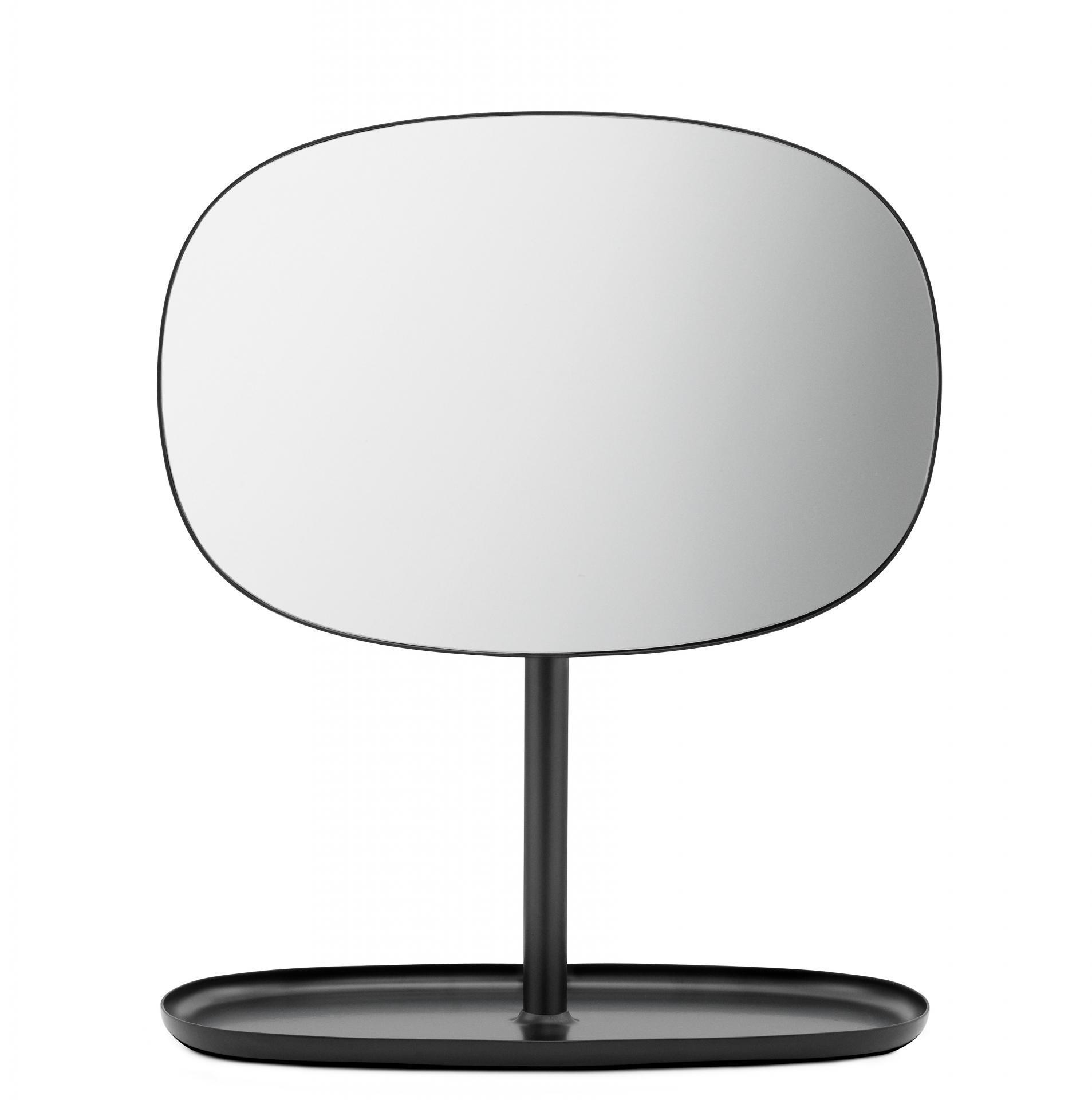 normann COPENHAGEN Stolní zrcadlo Black, černá barva, sklo, kov