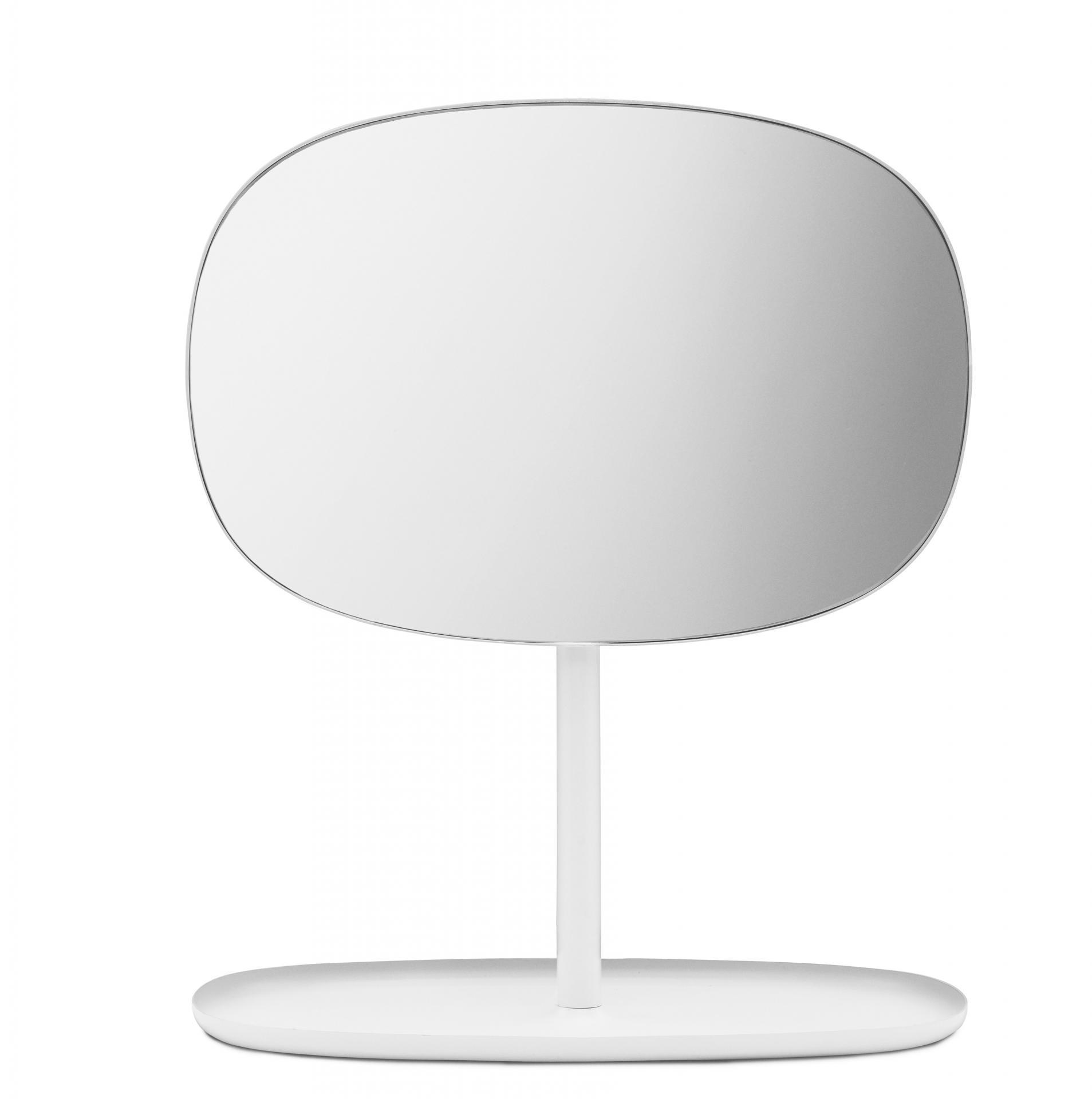 normann COPENHAGEN Stolní zrcadlo White, čirá barva, sklo, kov