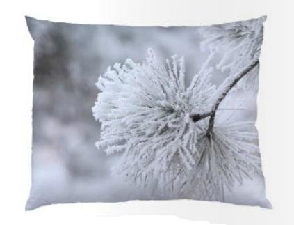 Bloomingville Polštář Snow 50x40, šedá barva, textil