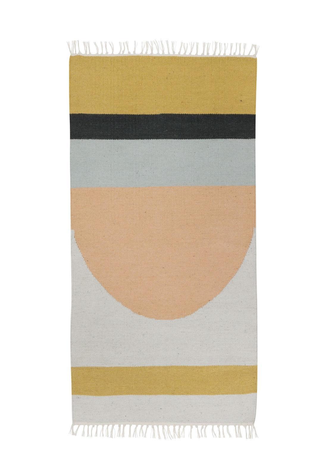 ferm LIVING Vlněný koberec Semicircle S