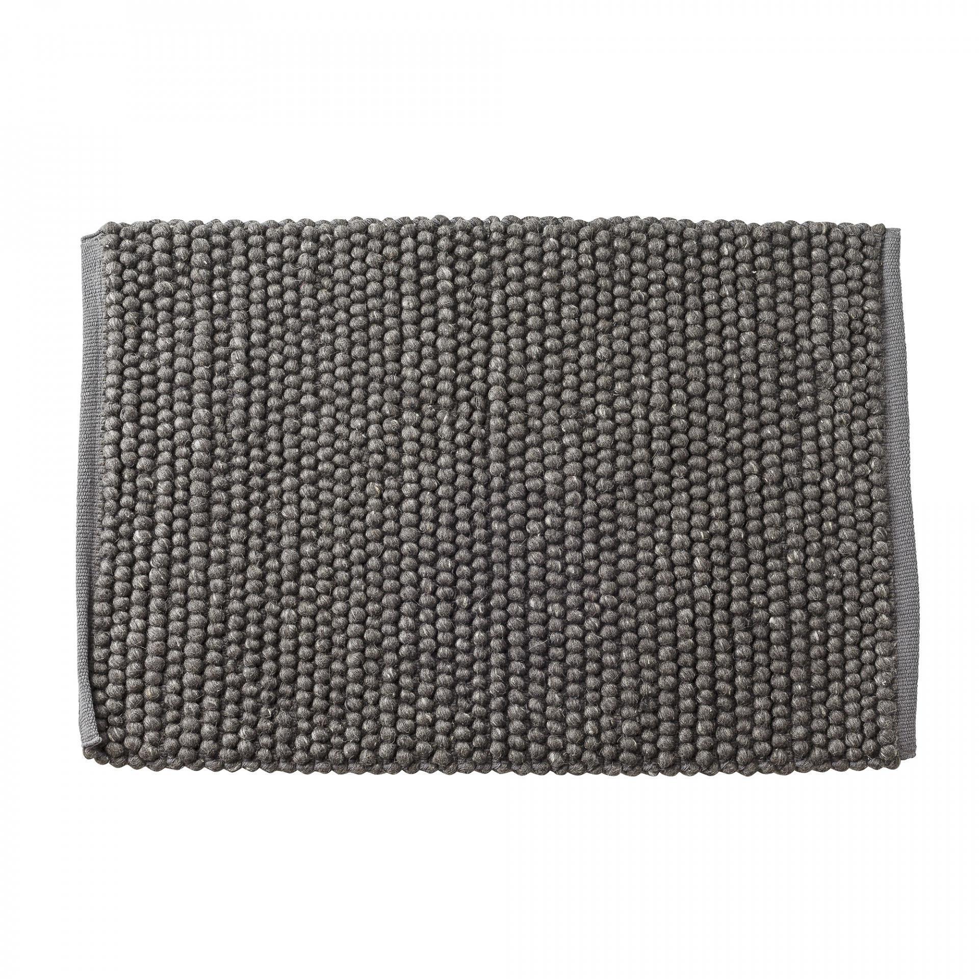 Bloomingville Vlněný koberečk Grey 60x90, šedá barva, textil