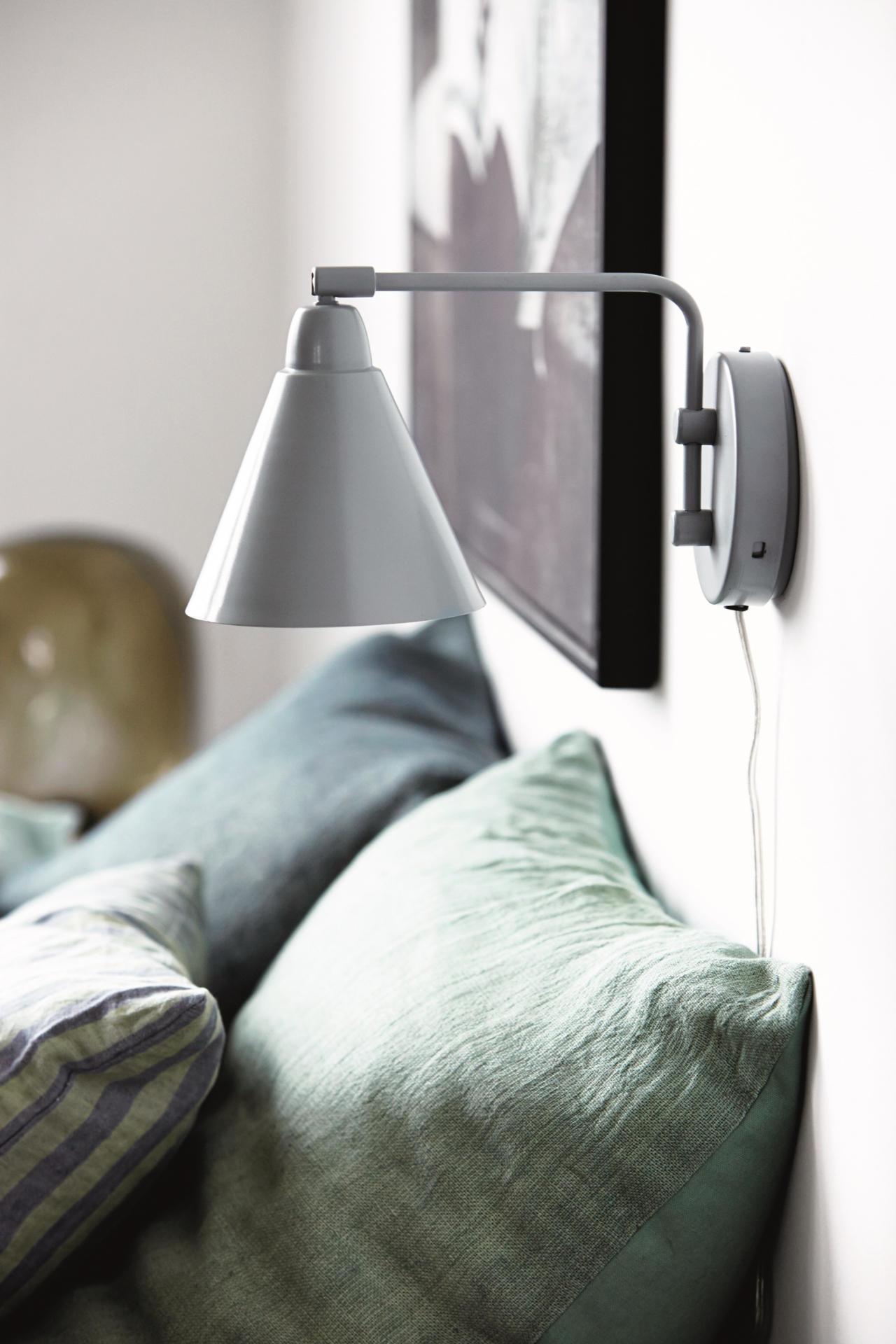 House Doctor Nástěnná lampička Game grey/white, šedá barva, kov