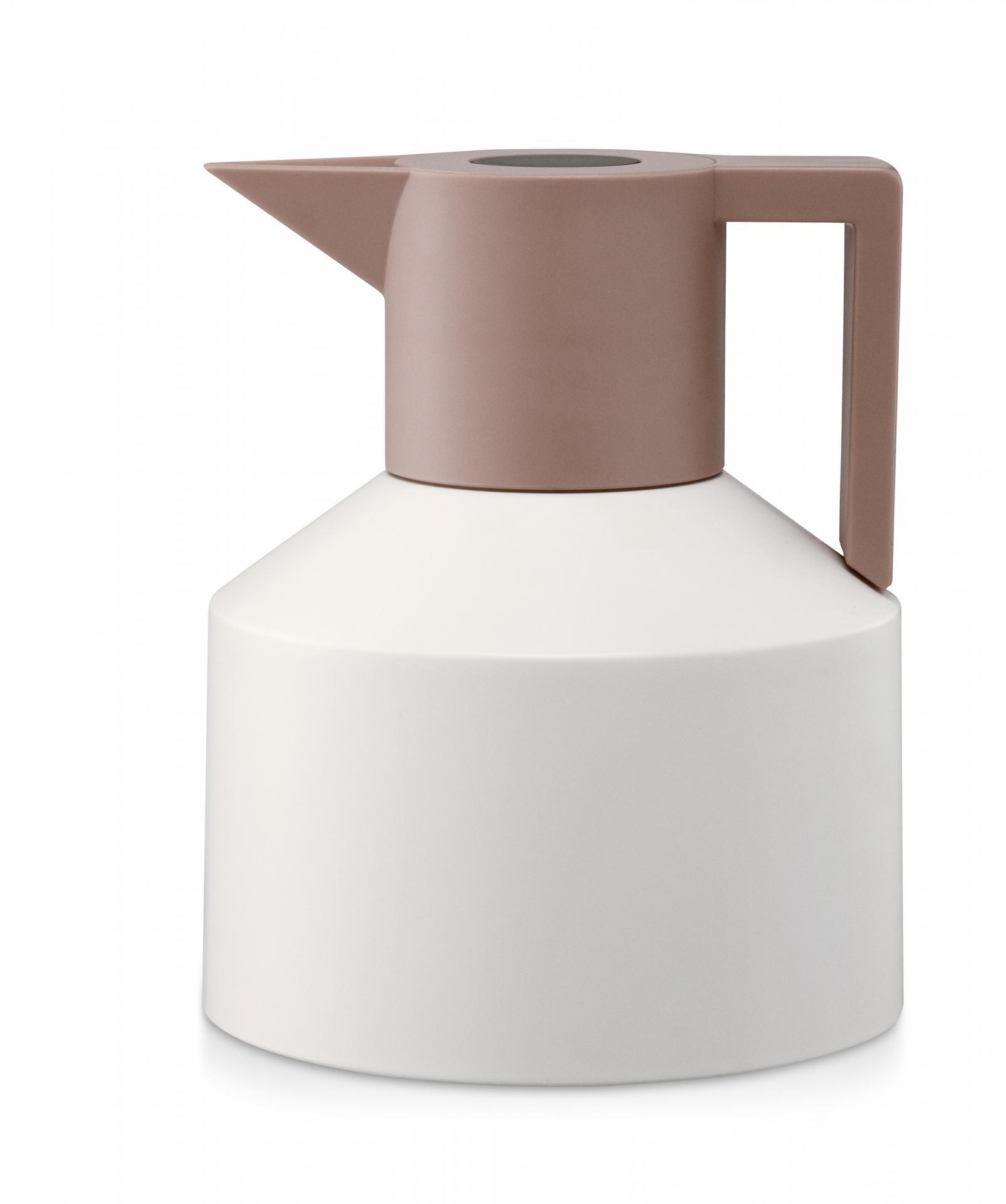 normann COPENHAGEN Termokonvice Geo White, béžová barva, čirá barva, sklo, plast