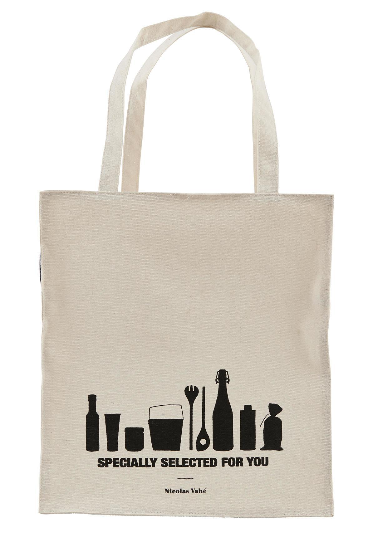 Nicolas Vahé Nákupní taška Specially Selected L, béžová barva, černá barva, textil