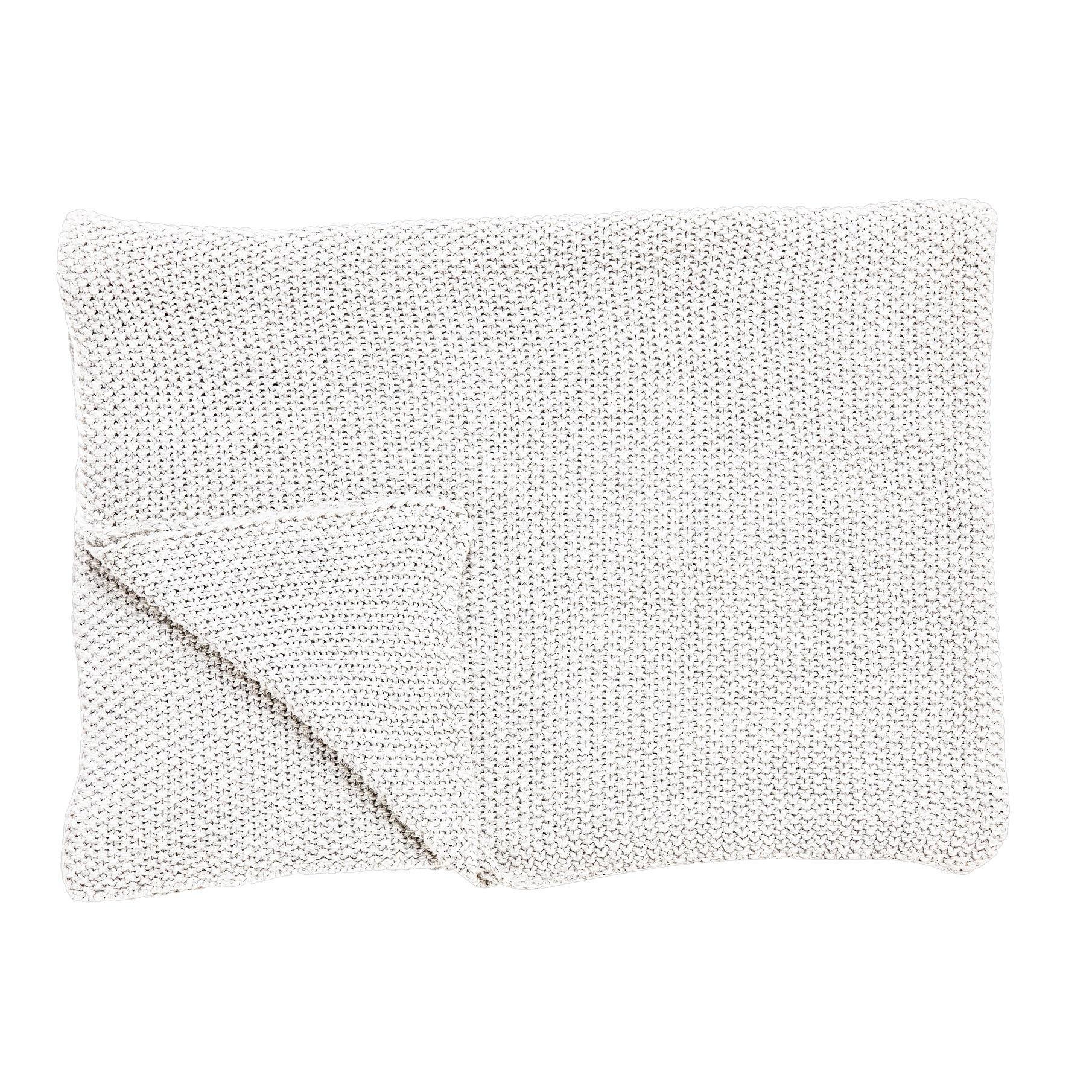 Hübsch Vlněný pléd White, béžová barva, textil
