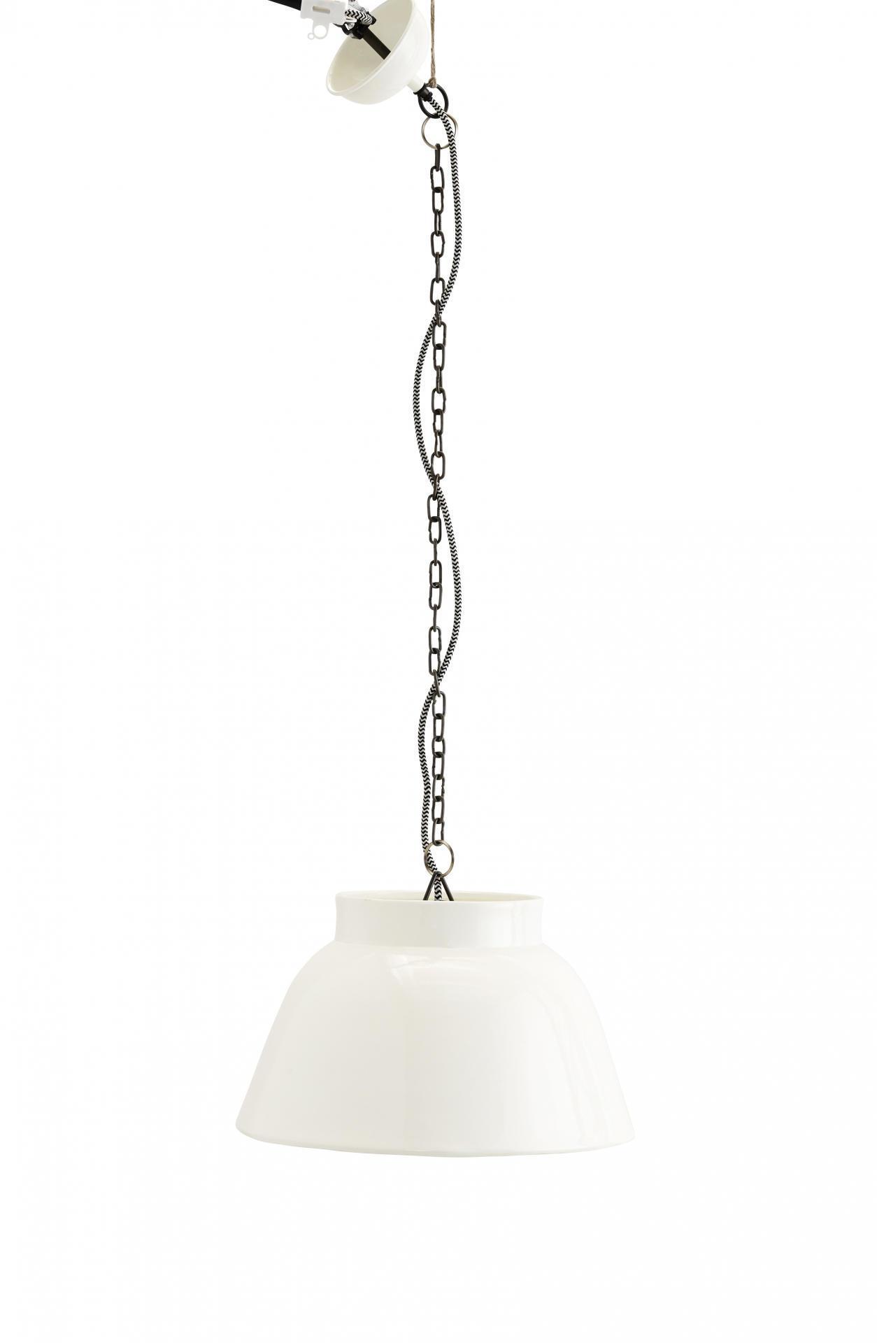 MADAM STOLTZ Závěsná lampa white, bílá barva, kov