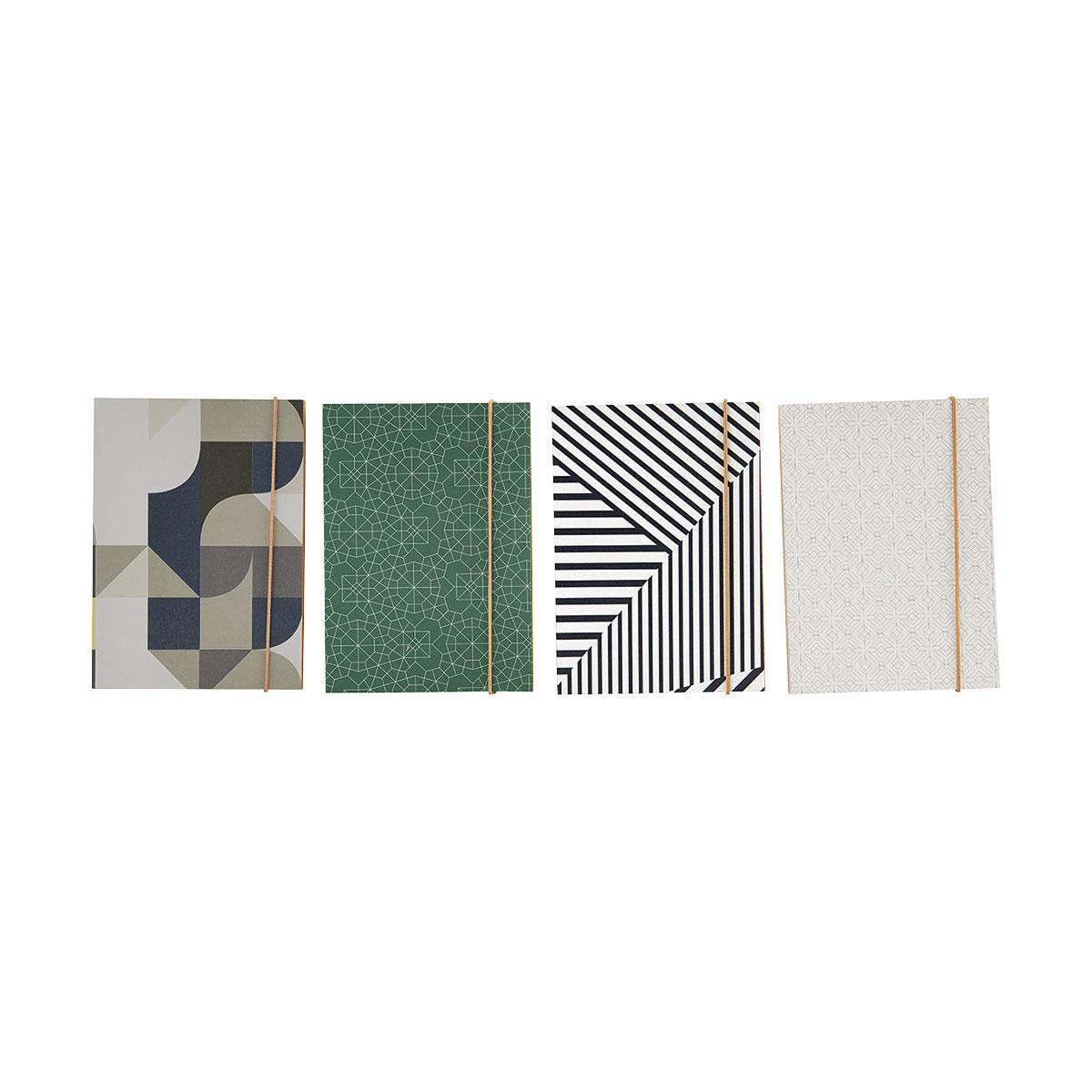 House Doctor Papírový notýsek Colours - 4 druhy Varianta A, zelená barva, béžová barva, šedá barva, černá barva, bílá barva, papír