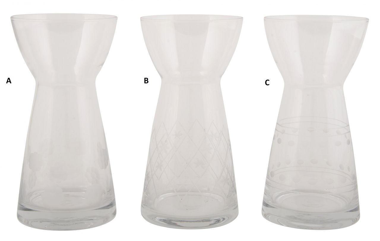 IB LAURSEN Váza Hyacint glass Typ A, čirá barva, sklo