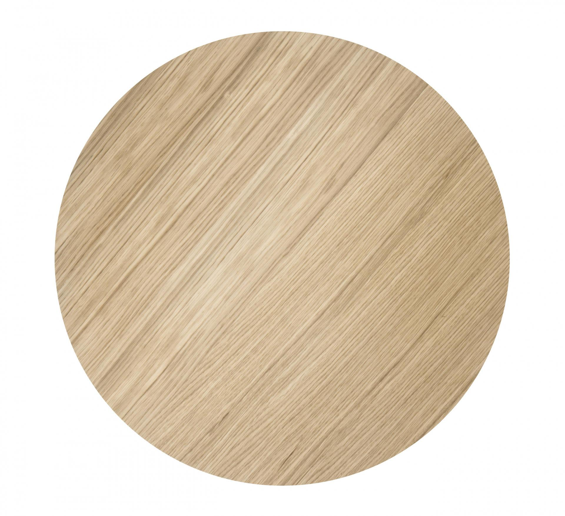 ferm LIVING Dřevěný poklop na drátěný koš Oiled Oak - medium, hnědá barva, přírodní barva, dřevo