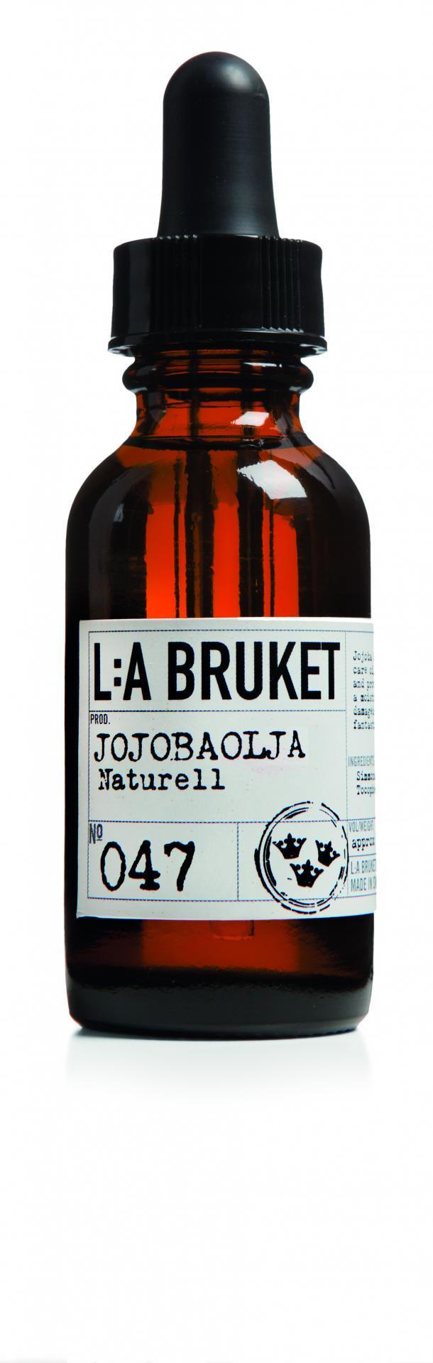 L:A BRUKET Jojobový pleťový olej 30 ml, hnědá barva, sklo