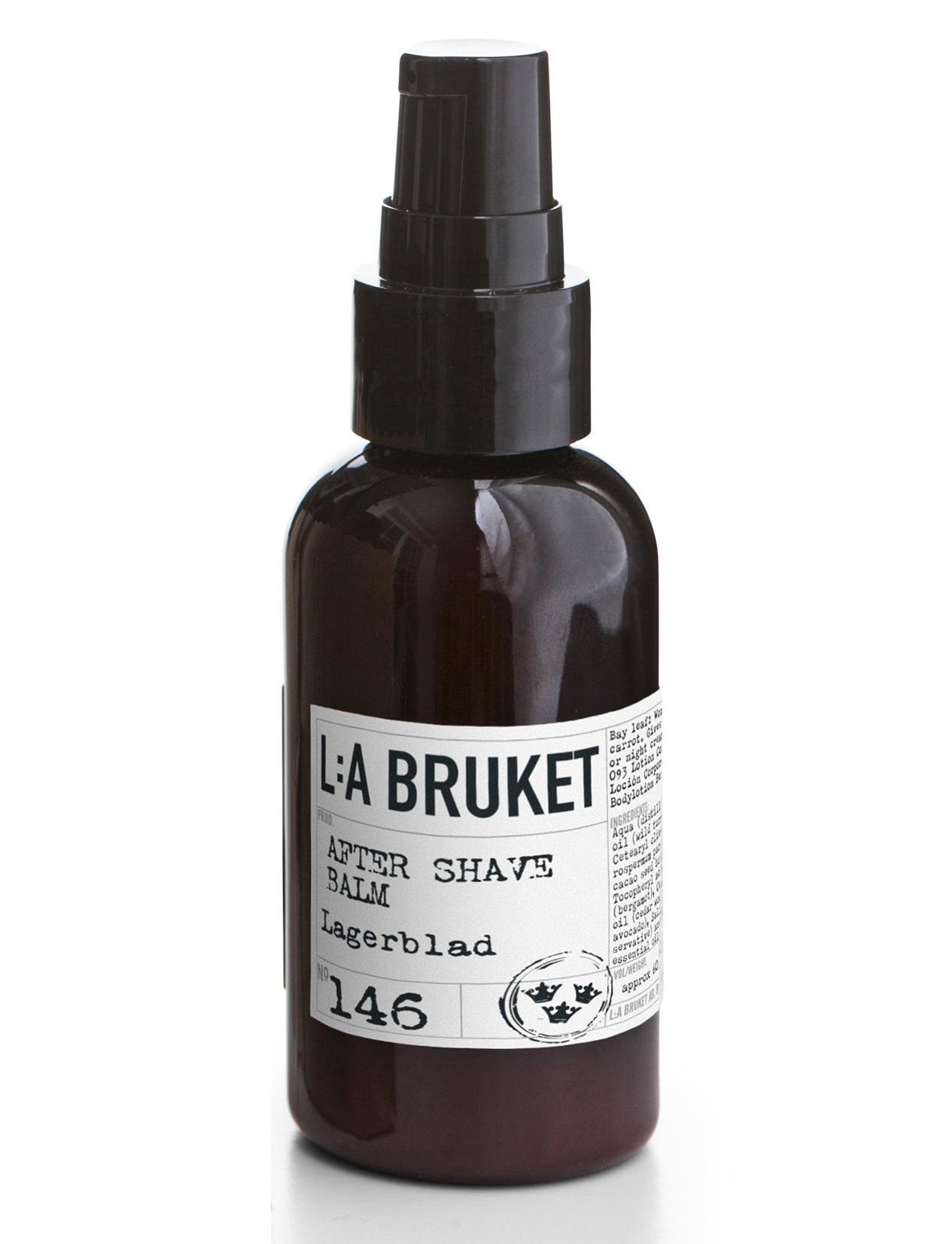 L:A BRUKET Balzám po holení s vavřínem 60 ml, černá barva, bílá barva, hnědá barva, plast