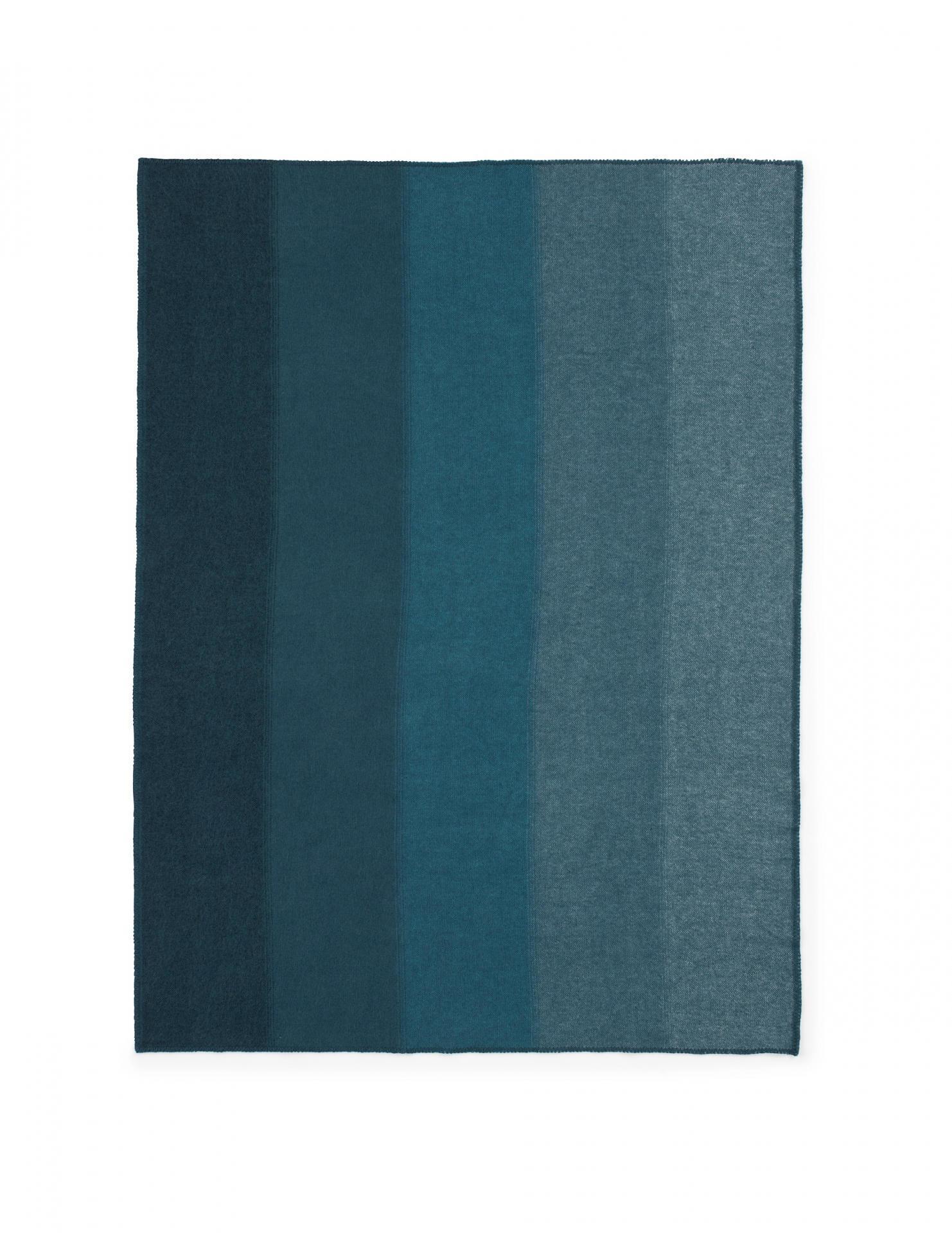 normann COPENHAGEN Vlněná deka Tint Blue, modrá barva, textil