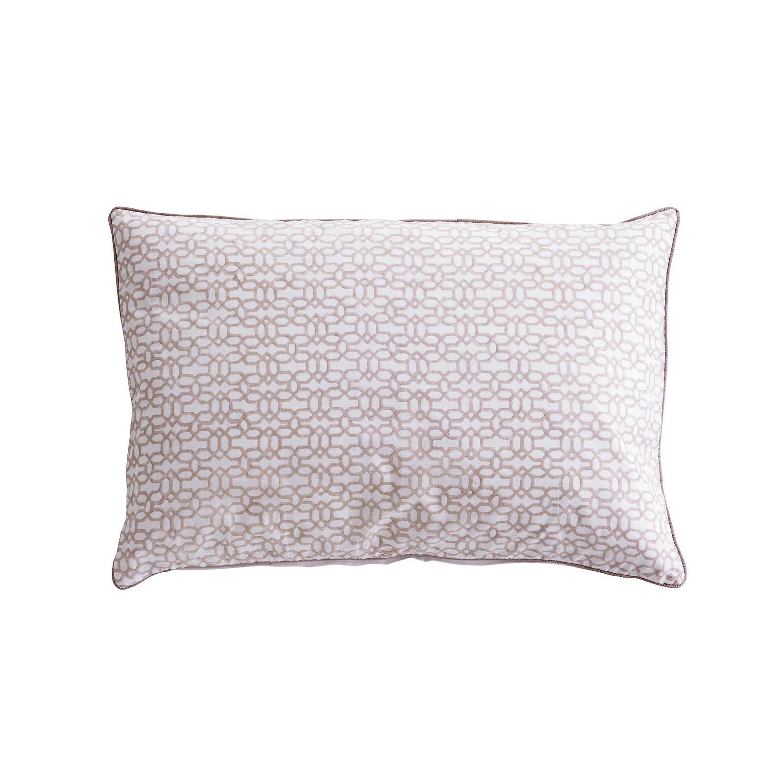 Tine K Home Povlak na polštář Nude Print, béžová barva, bílá barva, textil