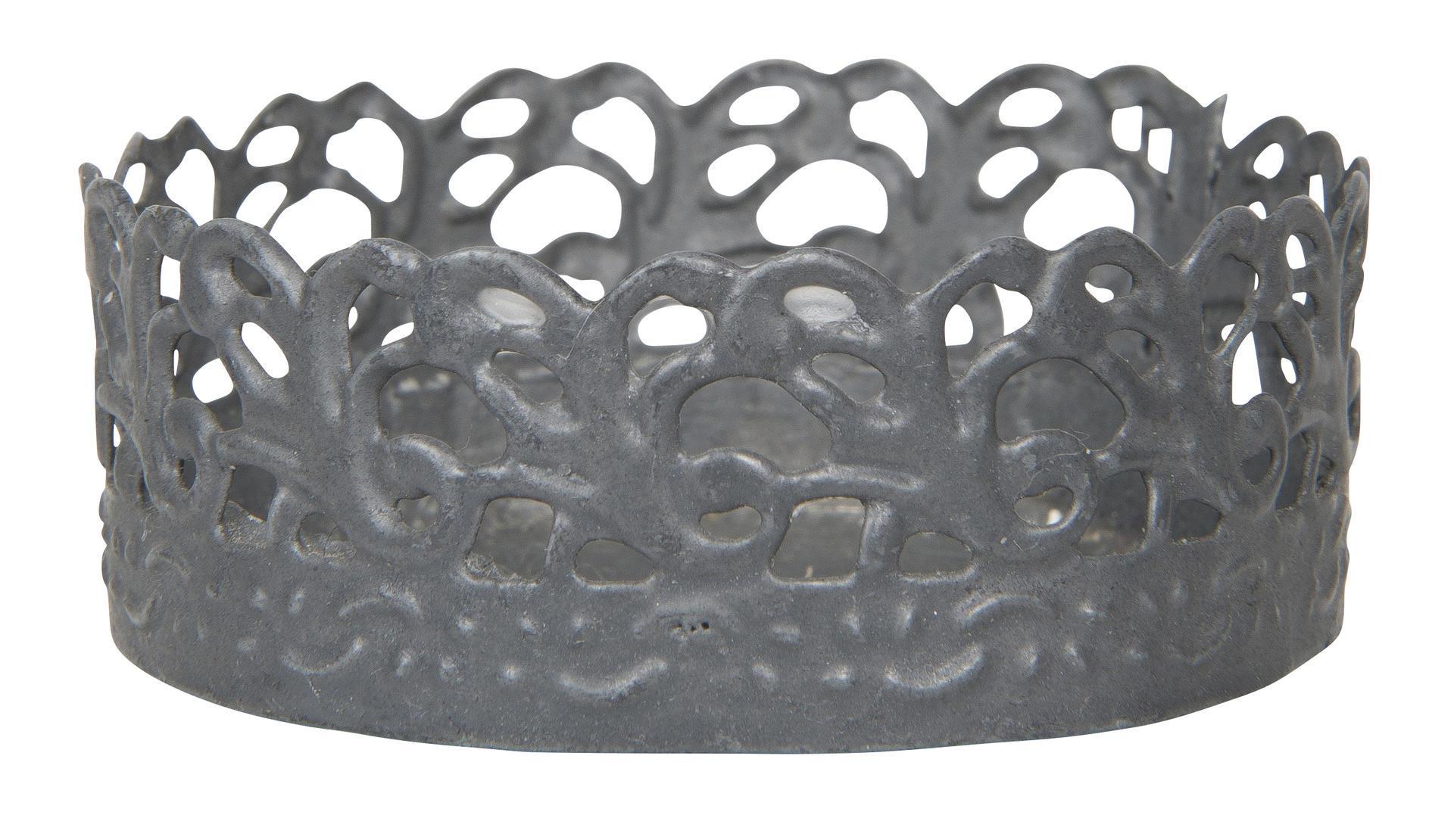 IB LAURSEN Zinkový svícen mini, šedá barva, kov