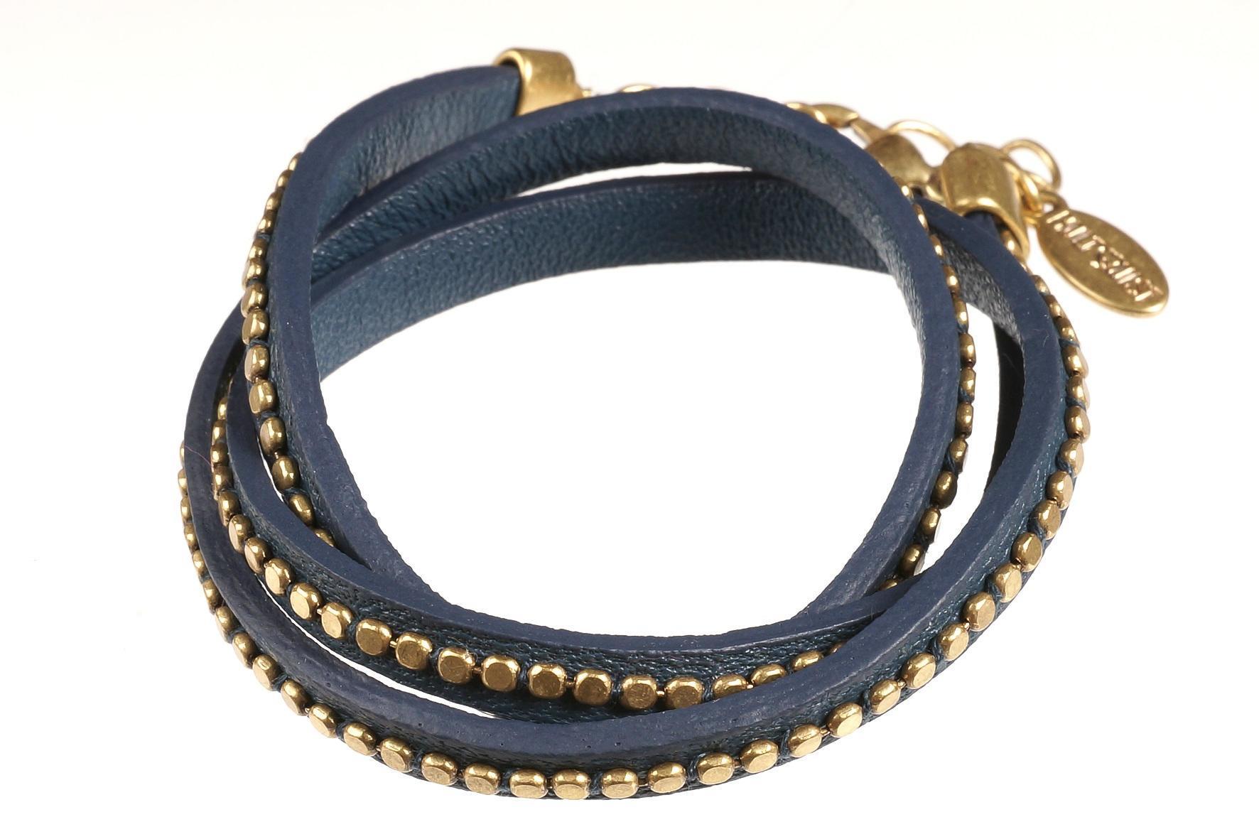 HULTQUIST Náramek Twist petrol, modrá barva B291007308E