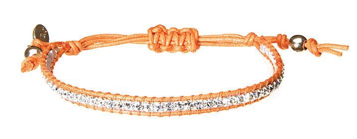 HULTQUIST Náramek Crystals silver orange, oranžová barva B291007302E