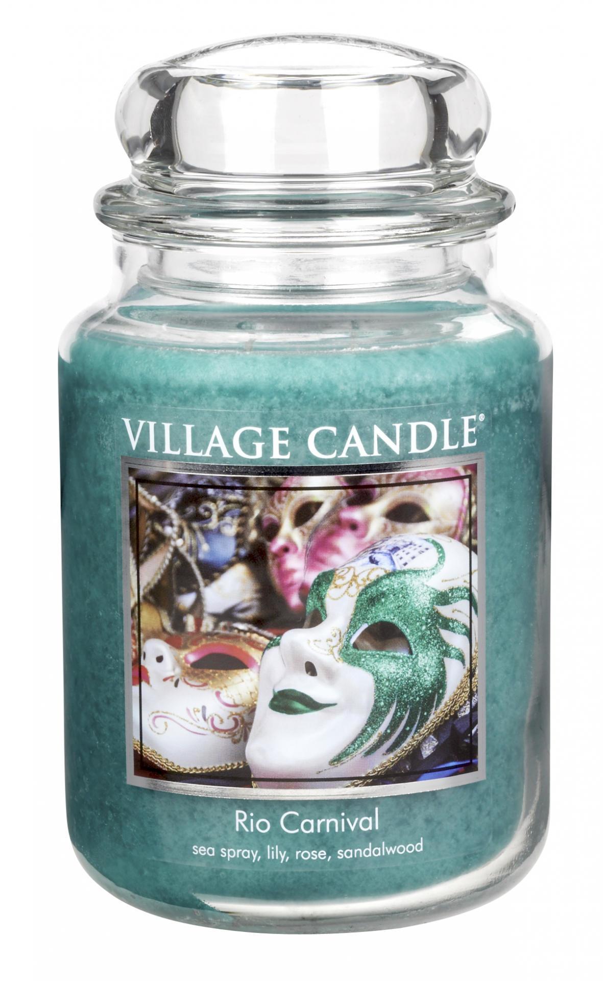 Village Candle Svíčka ve skle Rio carnival - velká
