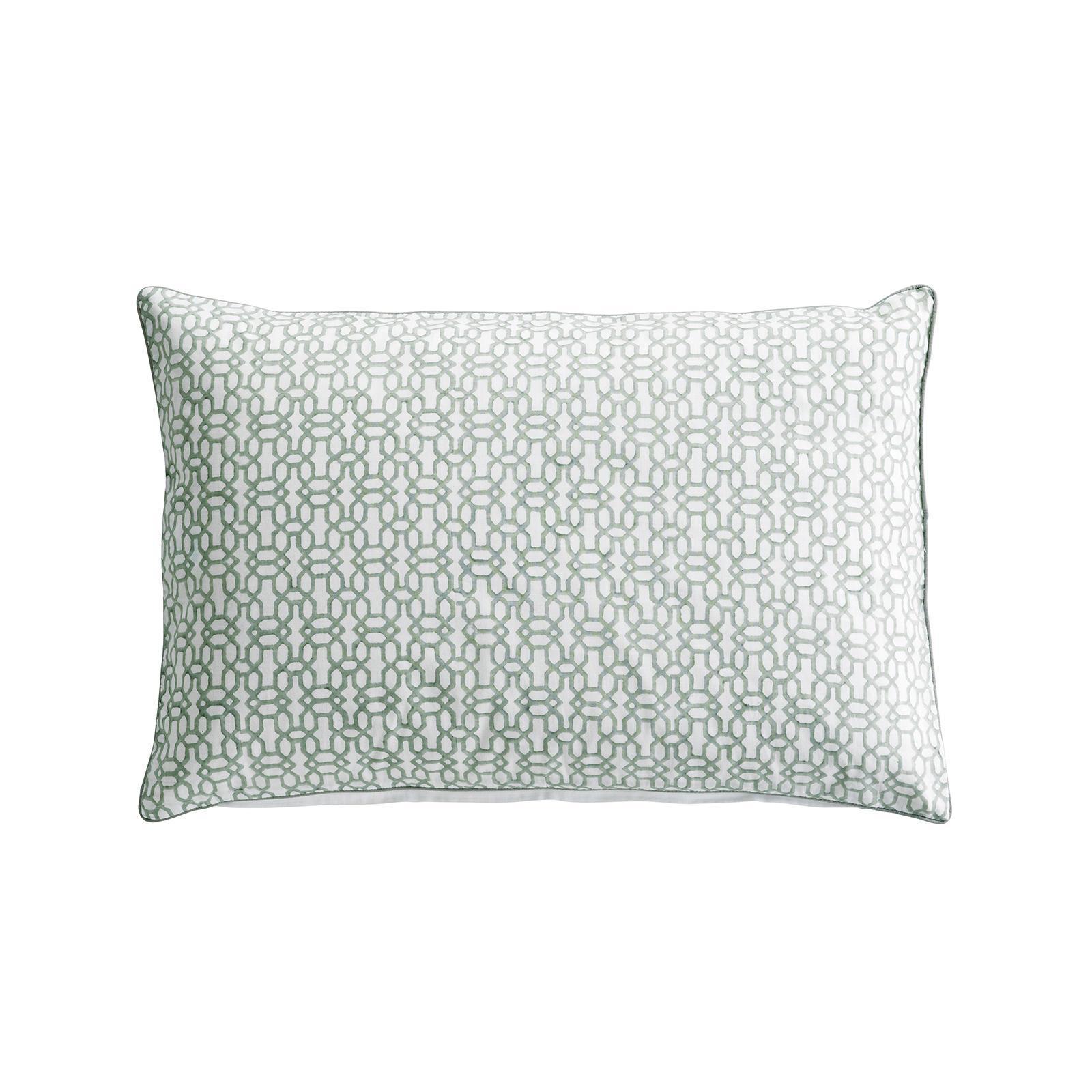 Tine K Home Povlak na polštář Mist Print, zelená barva, bílá barva, textil
