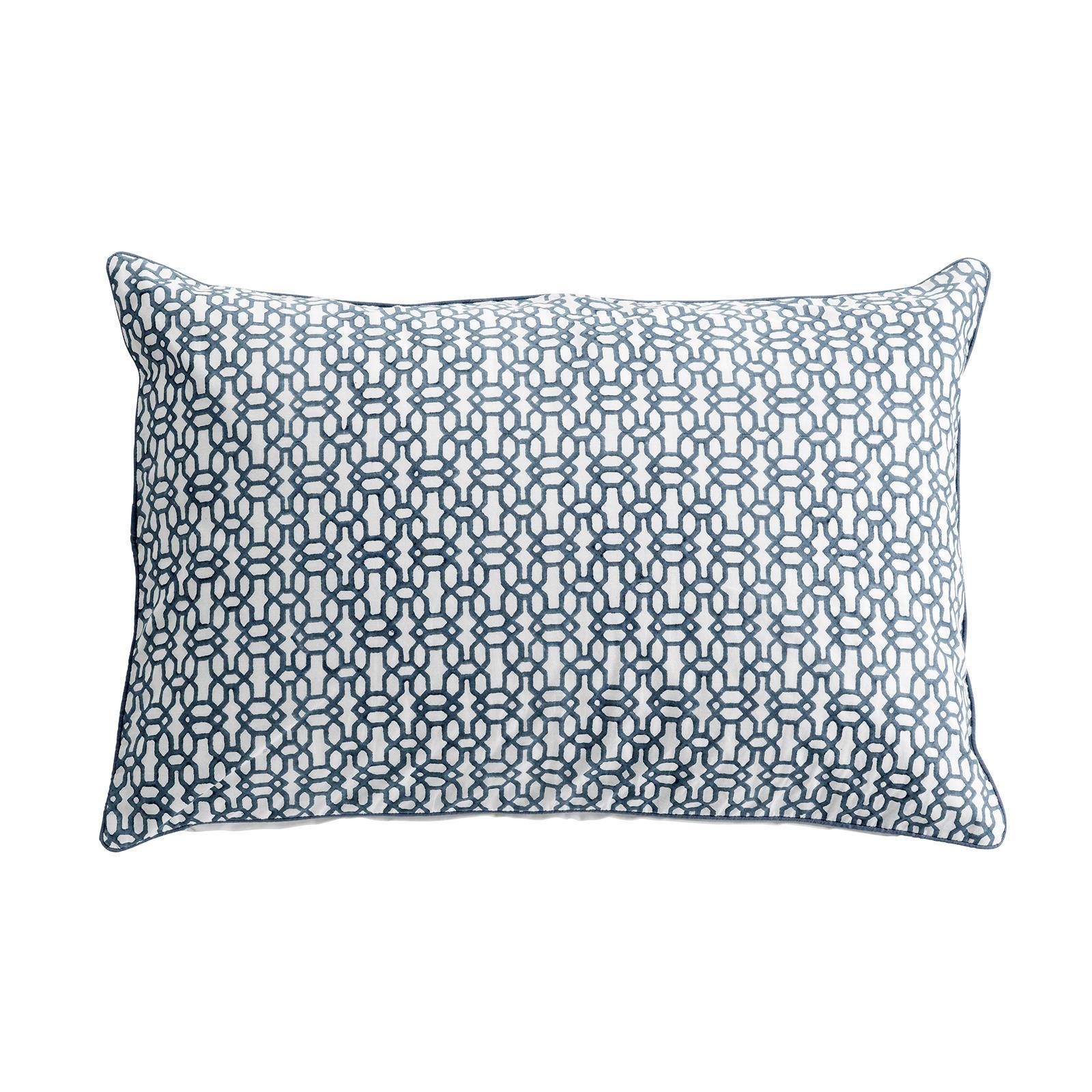 Tine K Home Povlak na polštář Blue Print, modrá barva, bílá barva, textil