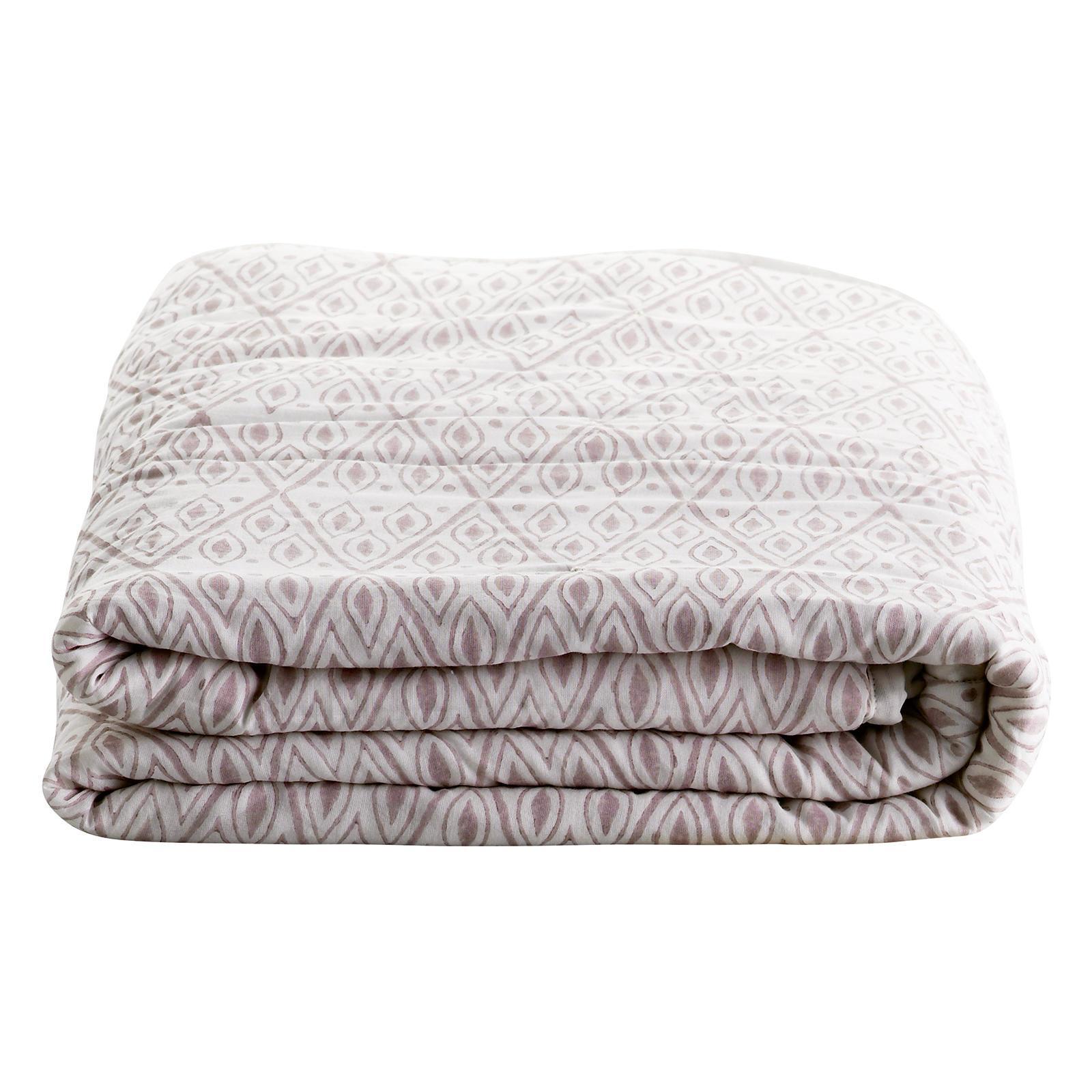 tineKhome Bavlněná deka Nude Eye 135 x 200 cm, růžová barva, bílá barva, textil
