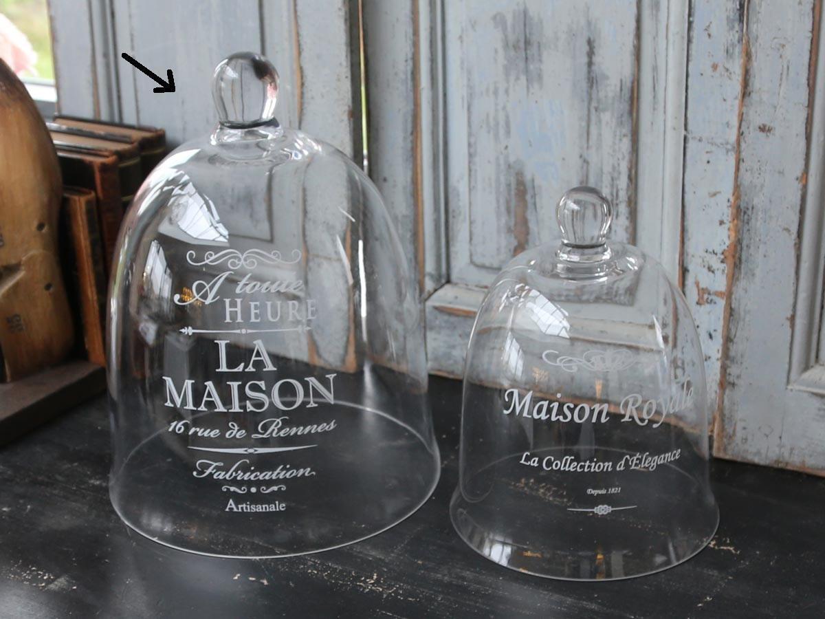 Chic Antique Skleněný poklop La Maison, čirá barva, sklo